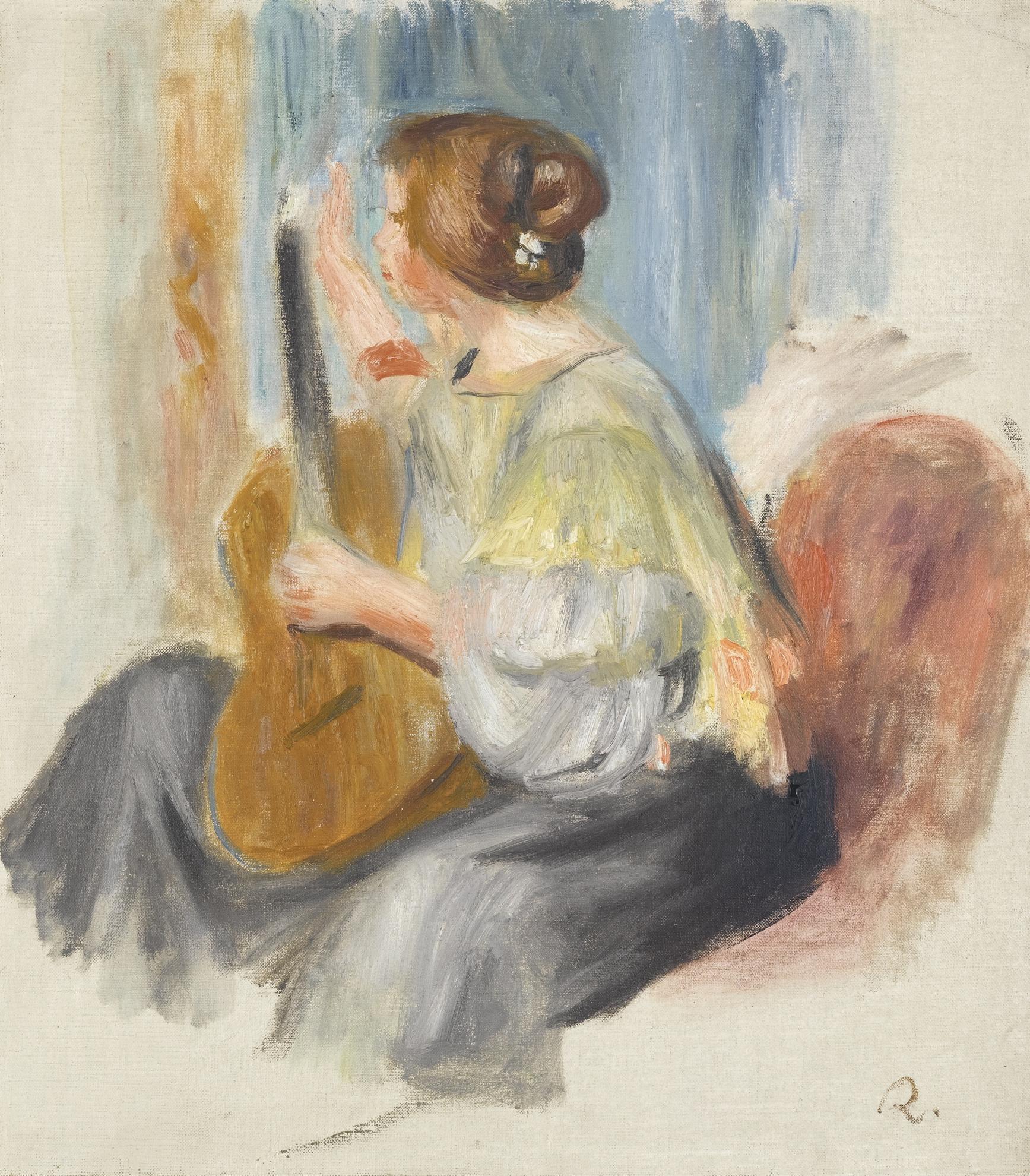 Pierre-Auguste Renoir-La Guitariste-1896