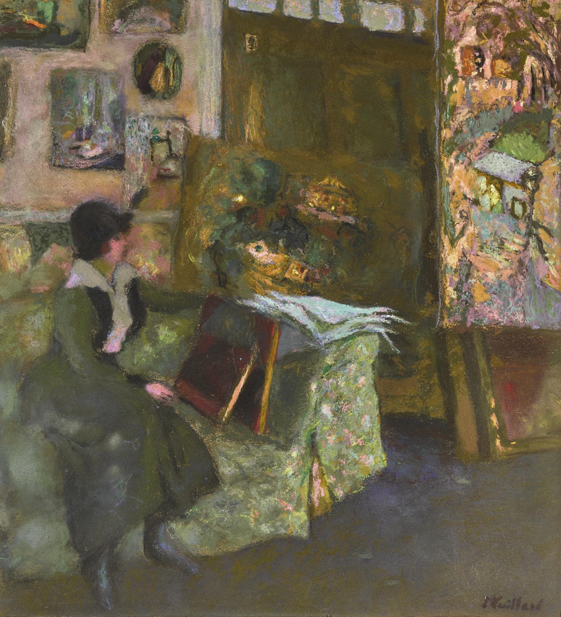 Edouard Vuillard-Modele Sur Un Sofa Vert-1915