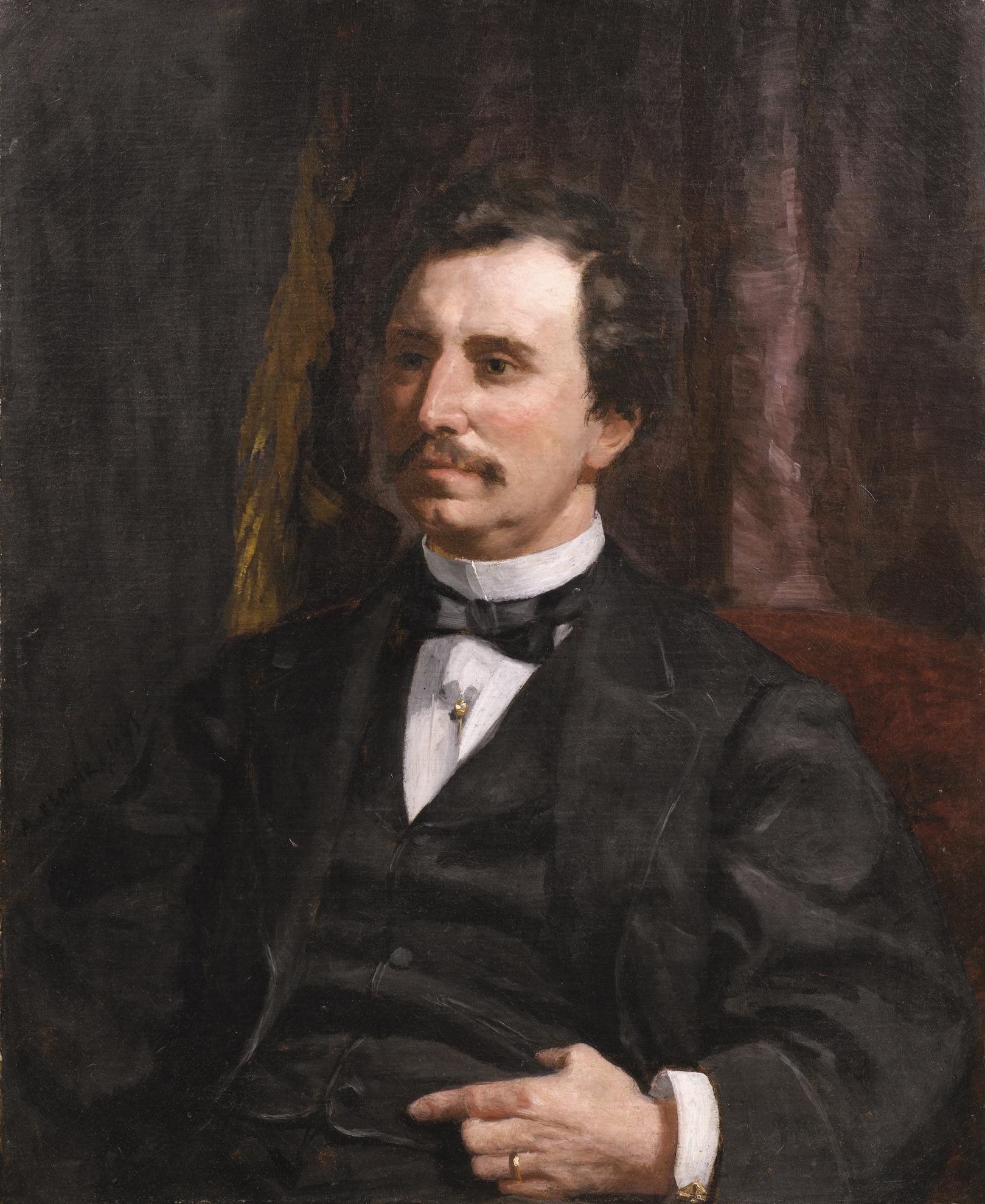 Pierre-Auguste Renoir-Portrait Du Colonel Howard Jenks-1865