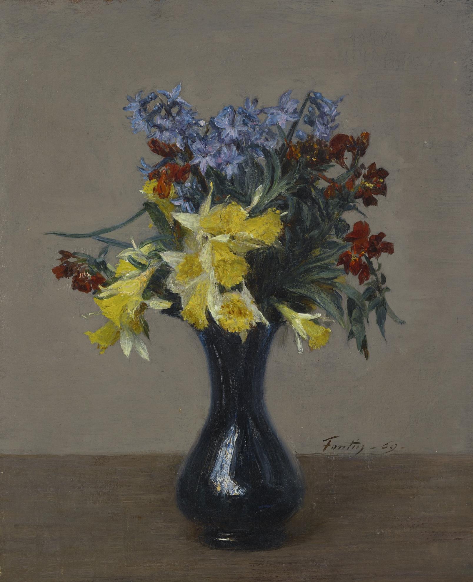 Henri Fantin-Latour-Fleurs De Printemps-1869
