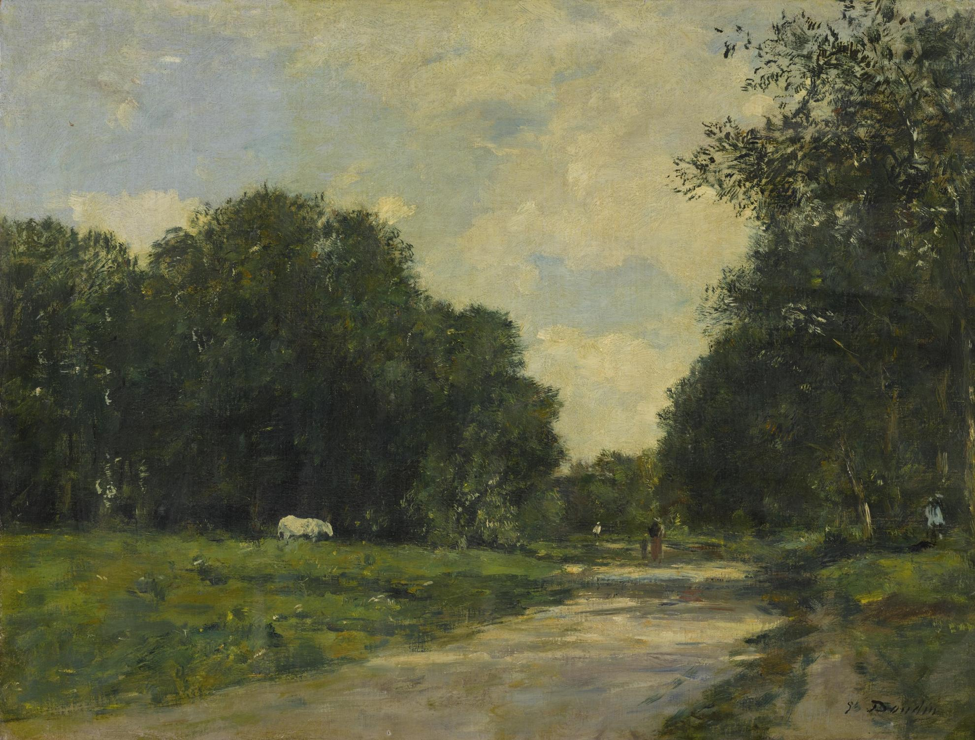 Eugene Louis Boudin-Le Parc Cordier A Trouville-1885