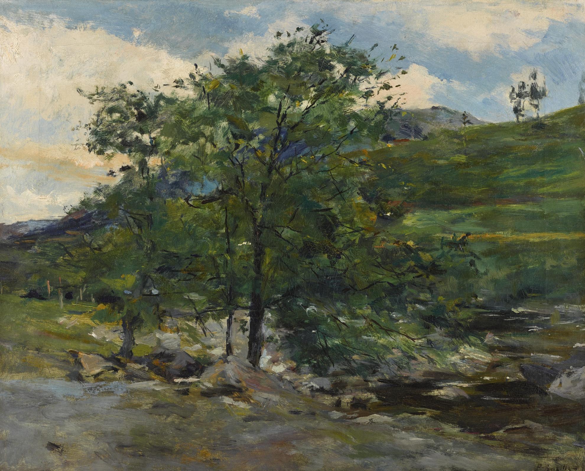 Frederic Bazille-Vallon En Foret De Fontainebleau-1865