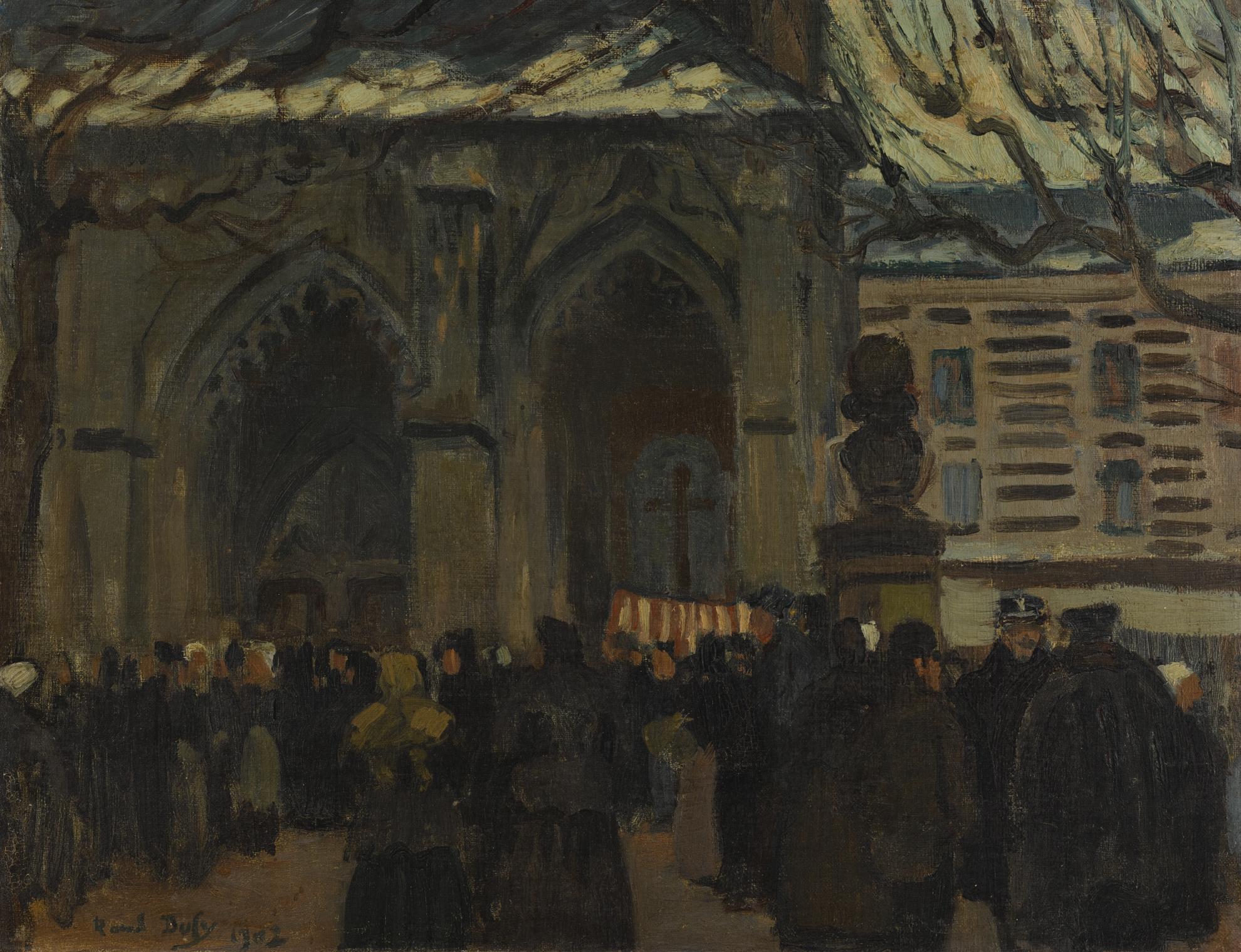 Raoul Dufy-Place De Leglise Et Marche A Montvilliers-1902