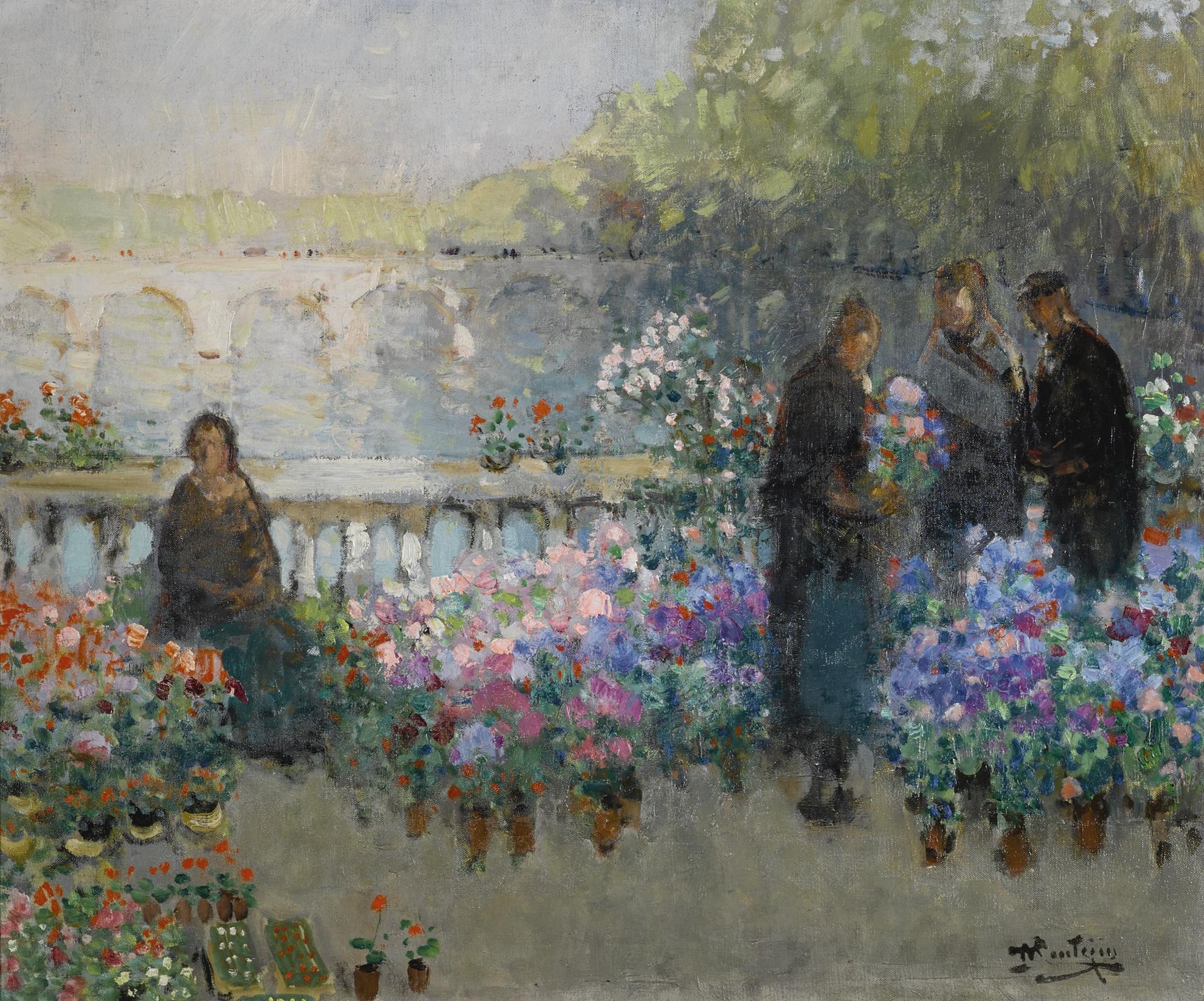 Pierre Eugene Montezin-Le Quai Aux Fleurs-1916