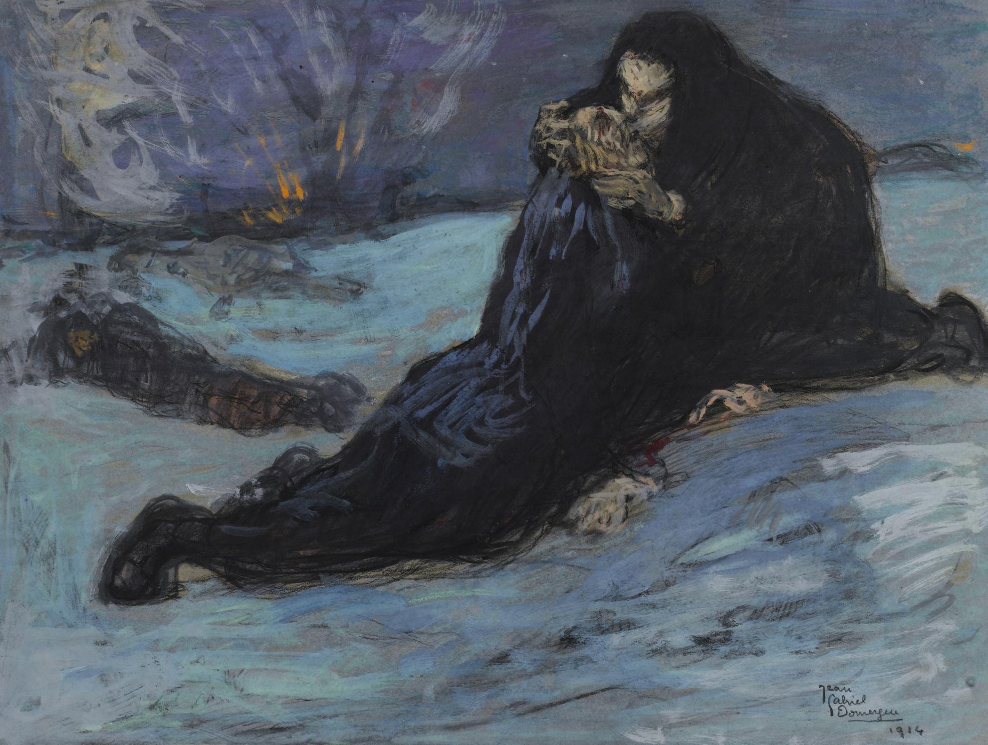 Jean-Gabriel Domergue-Scene De Guerre-1914