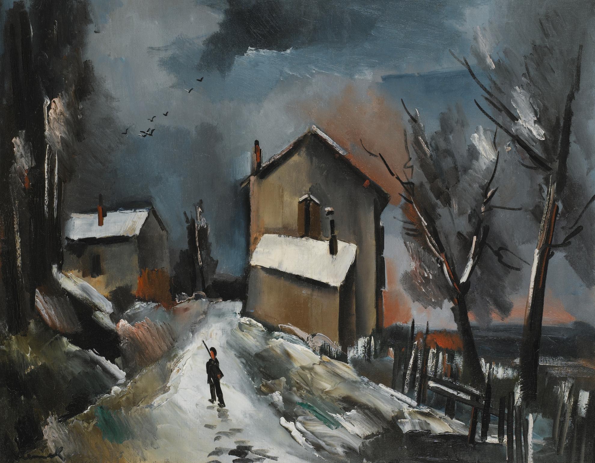 Maurice de Vlaminck-Une Nuit En Hiver-