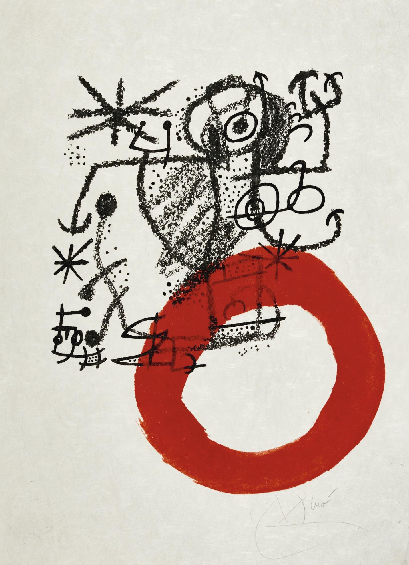 Joan Miro-Sans Titre (Pour Les Essencies De La Terra)-1968