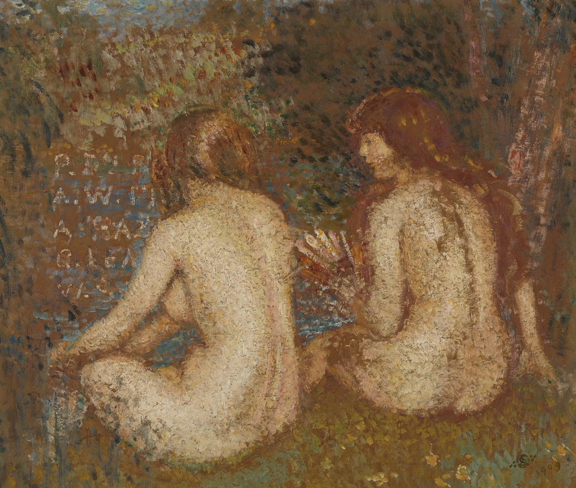Georges Lemmen-Two Nudes Bathing-1909
