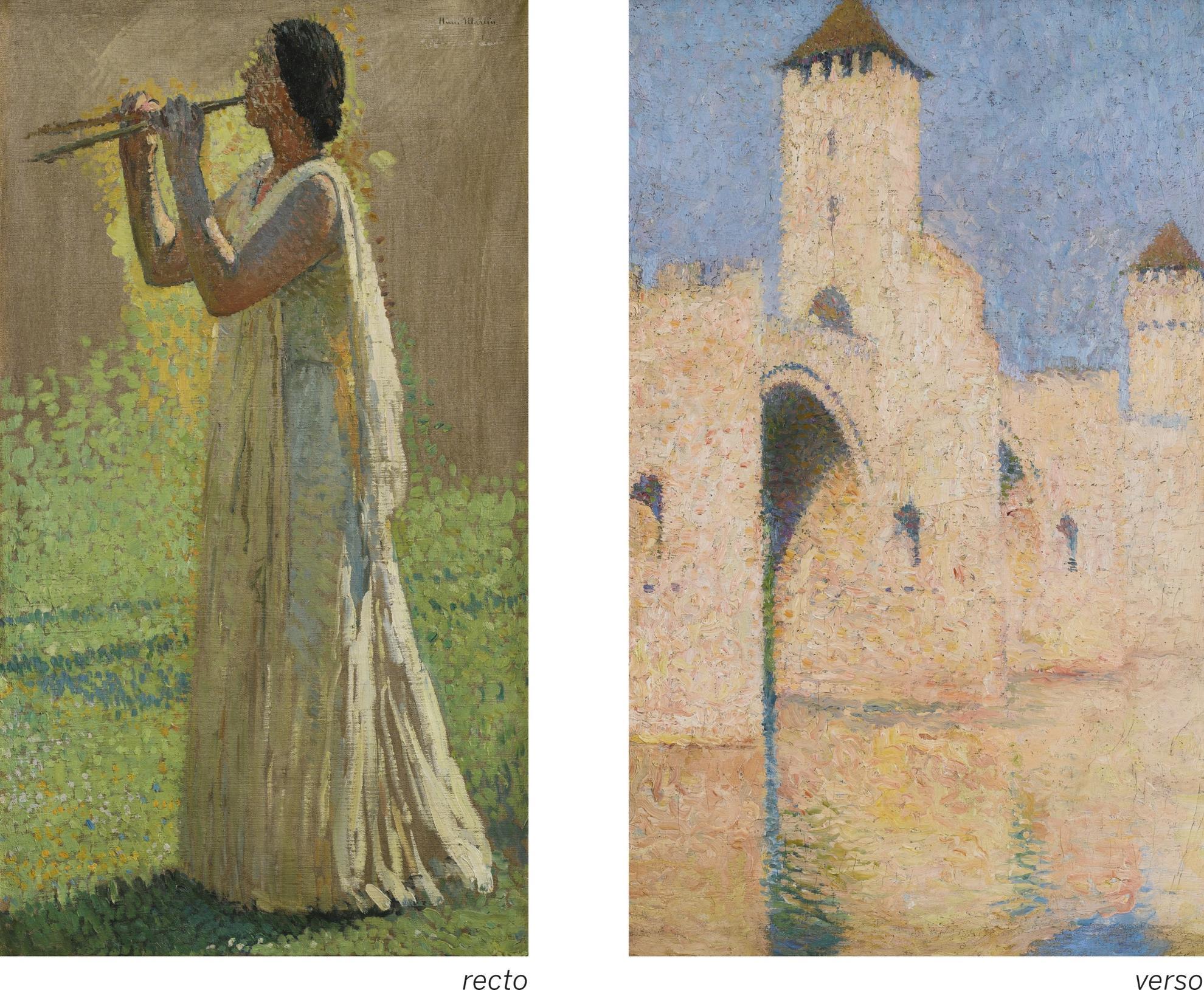 Henri Martin-Une Joueuse Antique De Diaule - Recto Pont Valentre A Cahors - Verso-