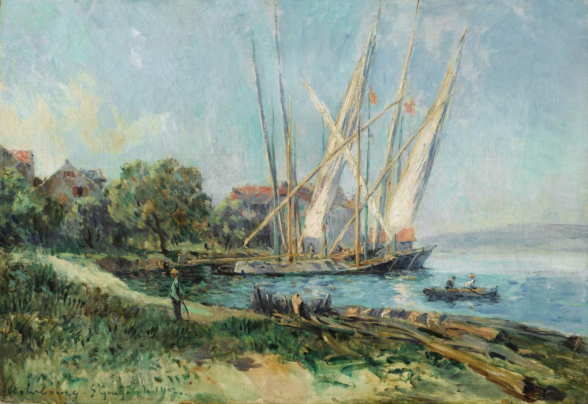 Albert Lebourg-Voiliers A Saint-Gingolph-1902