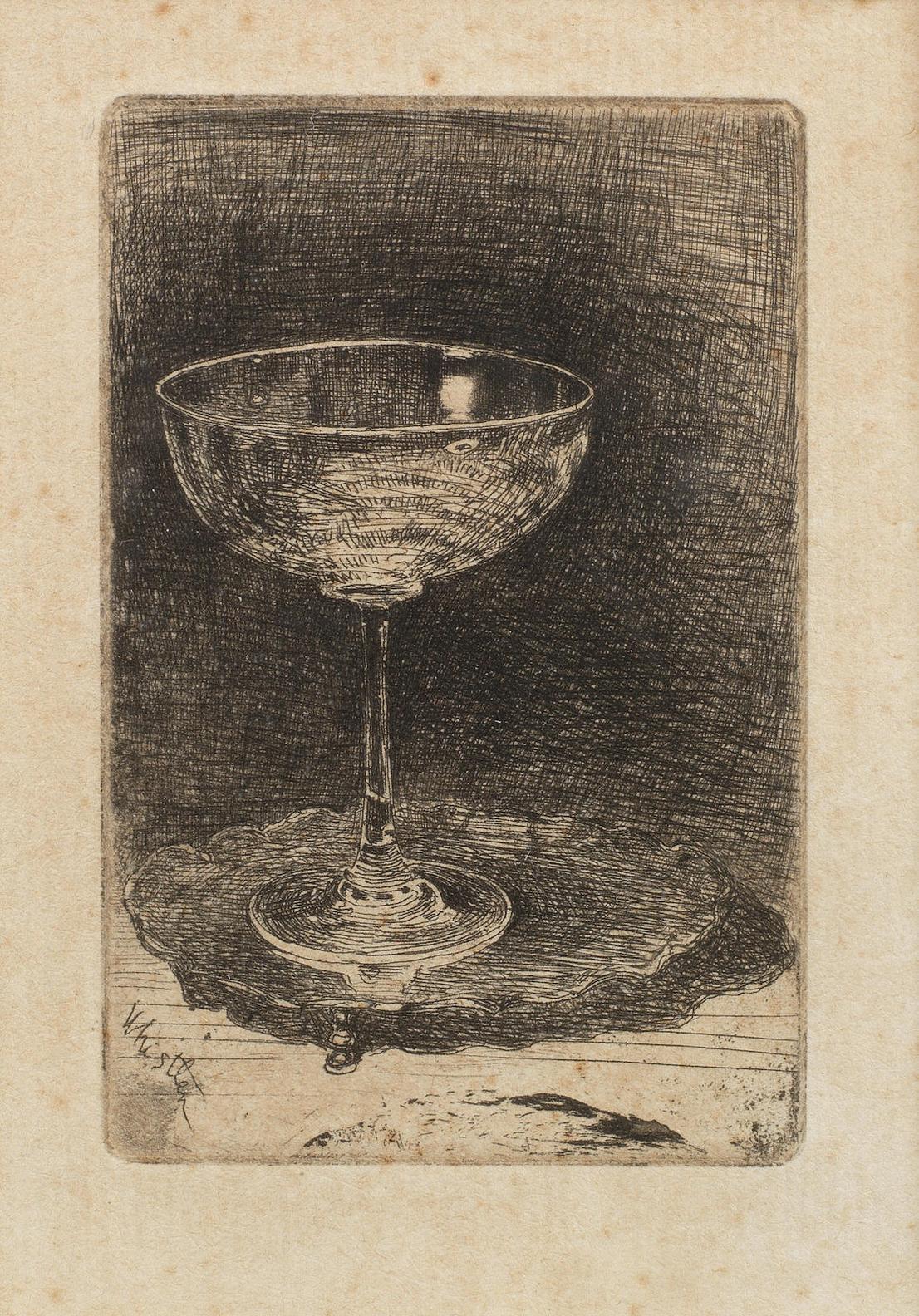 James Abbott McNeill Whistler-The Wine Glass (Kennedy 27,Glasgow 38)-1858
