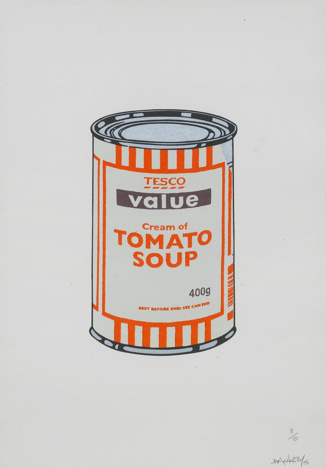 Banksy-Soup Can (Mint/Orange/Brown)-2005