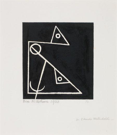 Ben Nicholson-Foxy And Frankie (4) (Cristea 11; Print Quarterly 11.4)-1933