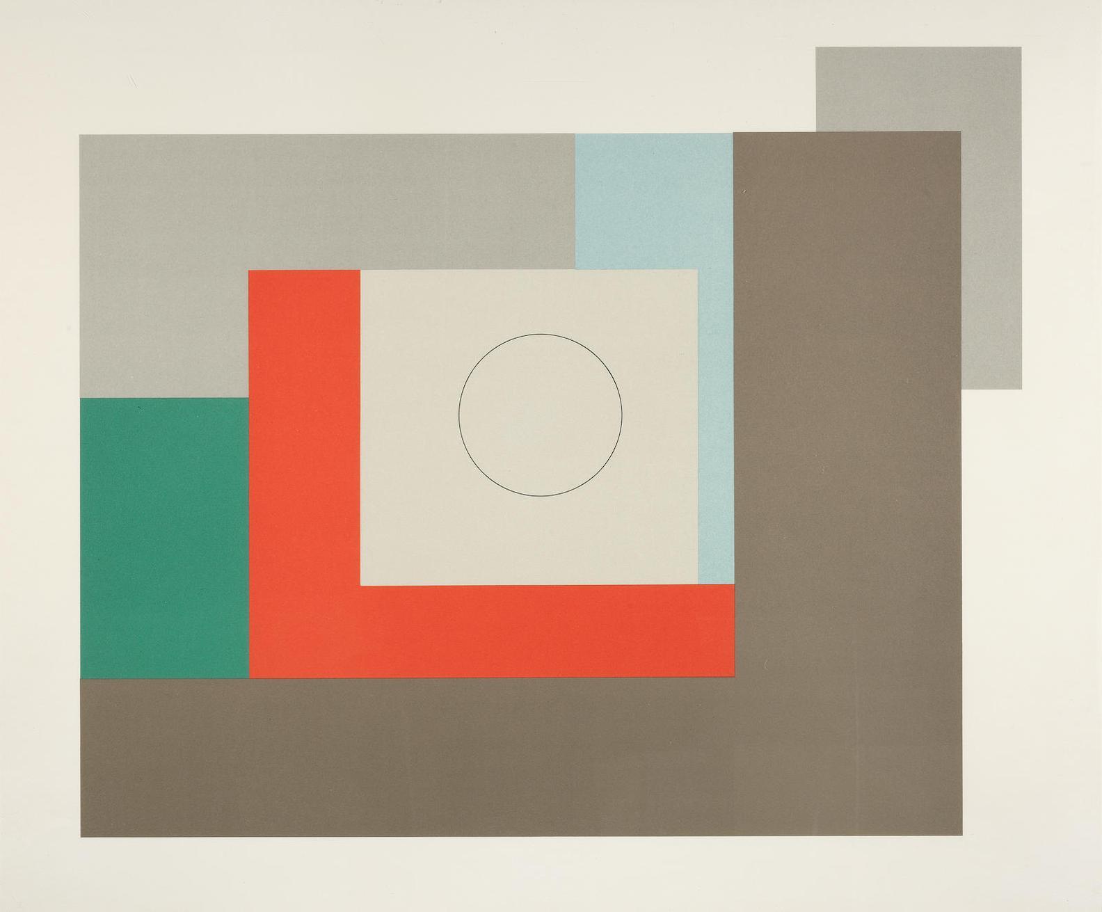 Ben Nicholson-Abstract Composition 1935 (Cristea 12)-1973
