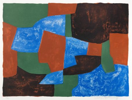 Serge Poliakoff-Composition In Blue, Green And Red (Poliakoff 31)-1961