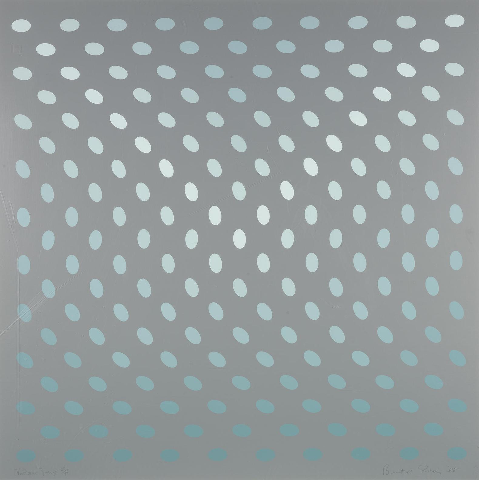 Bridget Riley-Nineteen Greys (Schubert 8A-D)-1968