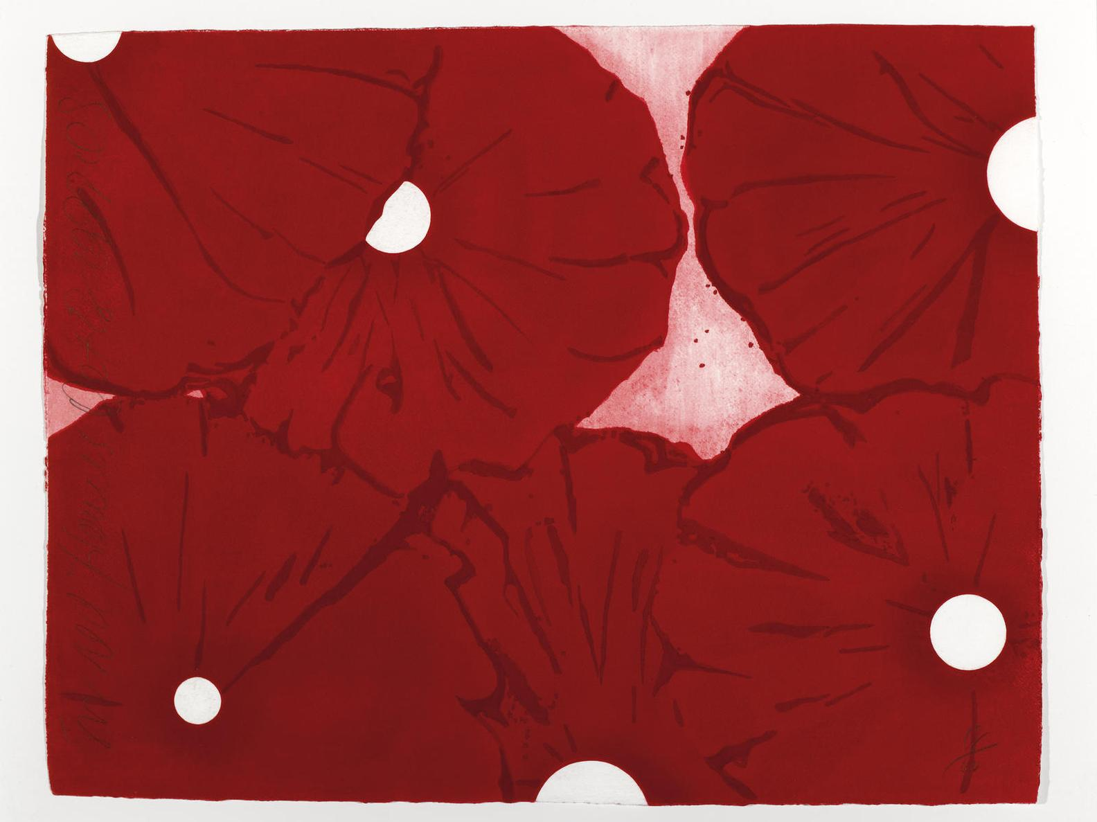 Donald Sultan-Six Red Flowers-1999