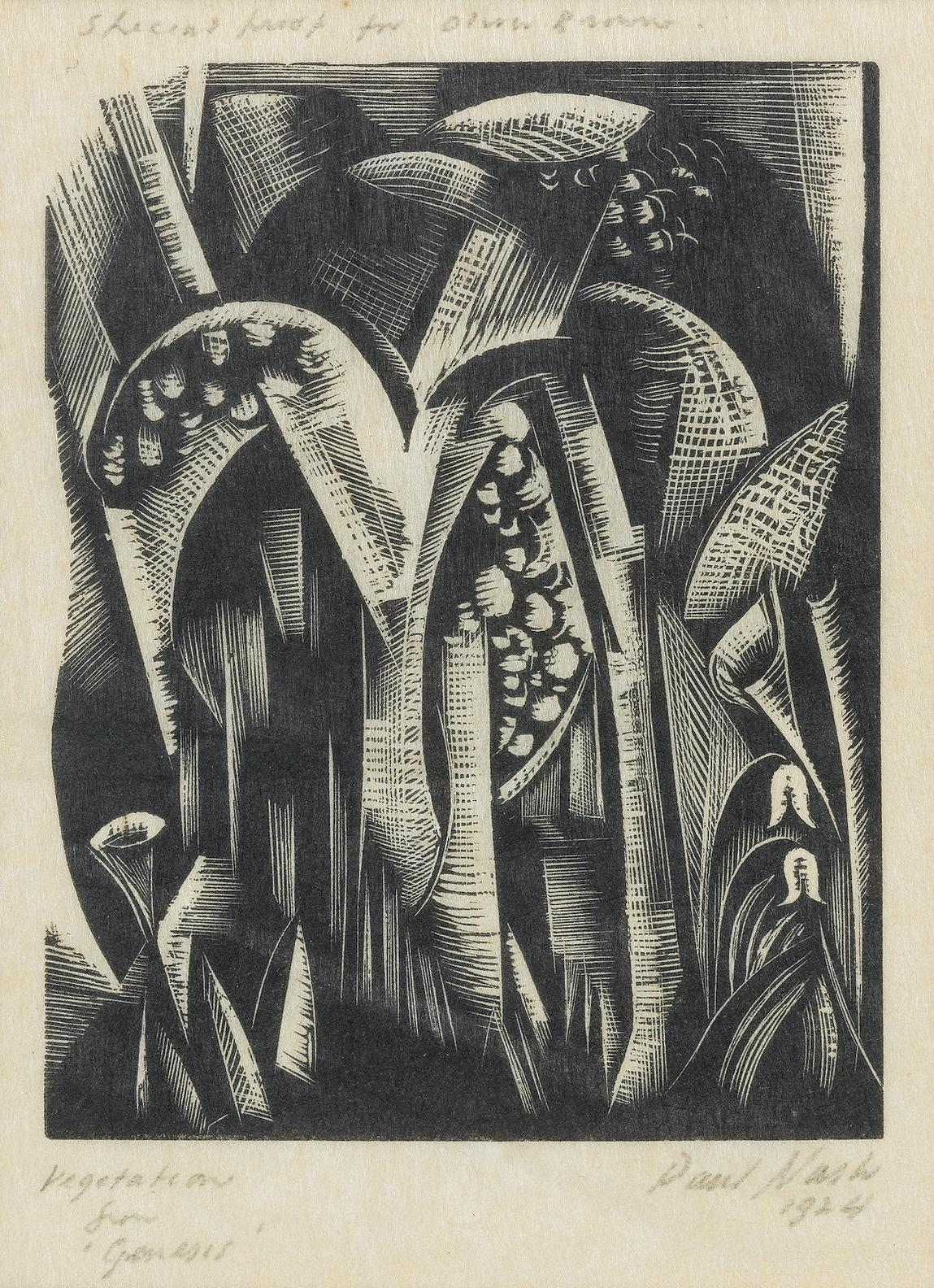Paul Nash-Vegetation, From Genesis (Postanw47); Elms (PW6)-1924