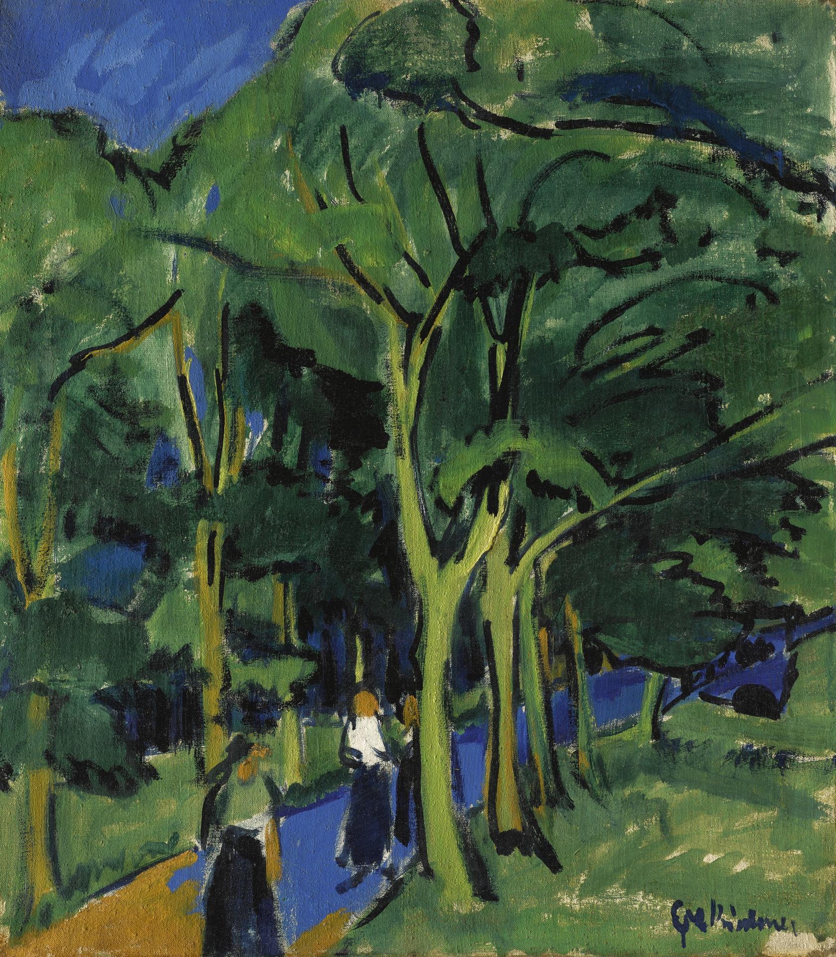Ernst Ludwig Kirchner-Waldstrasse (Forest Road)-1910