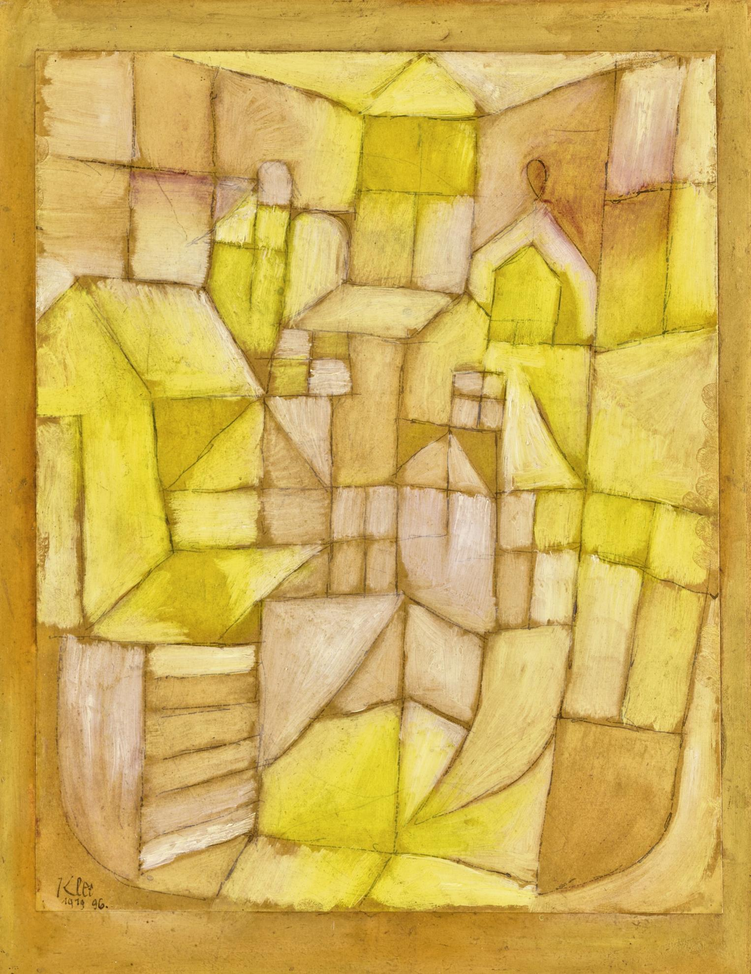 Paul Klee-Fenster Und Dacher (Gelb-Rot) (Windows And Roofs - Yellow-Red)-1919