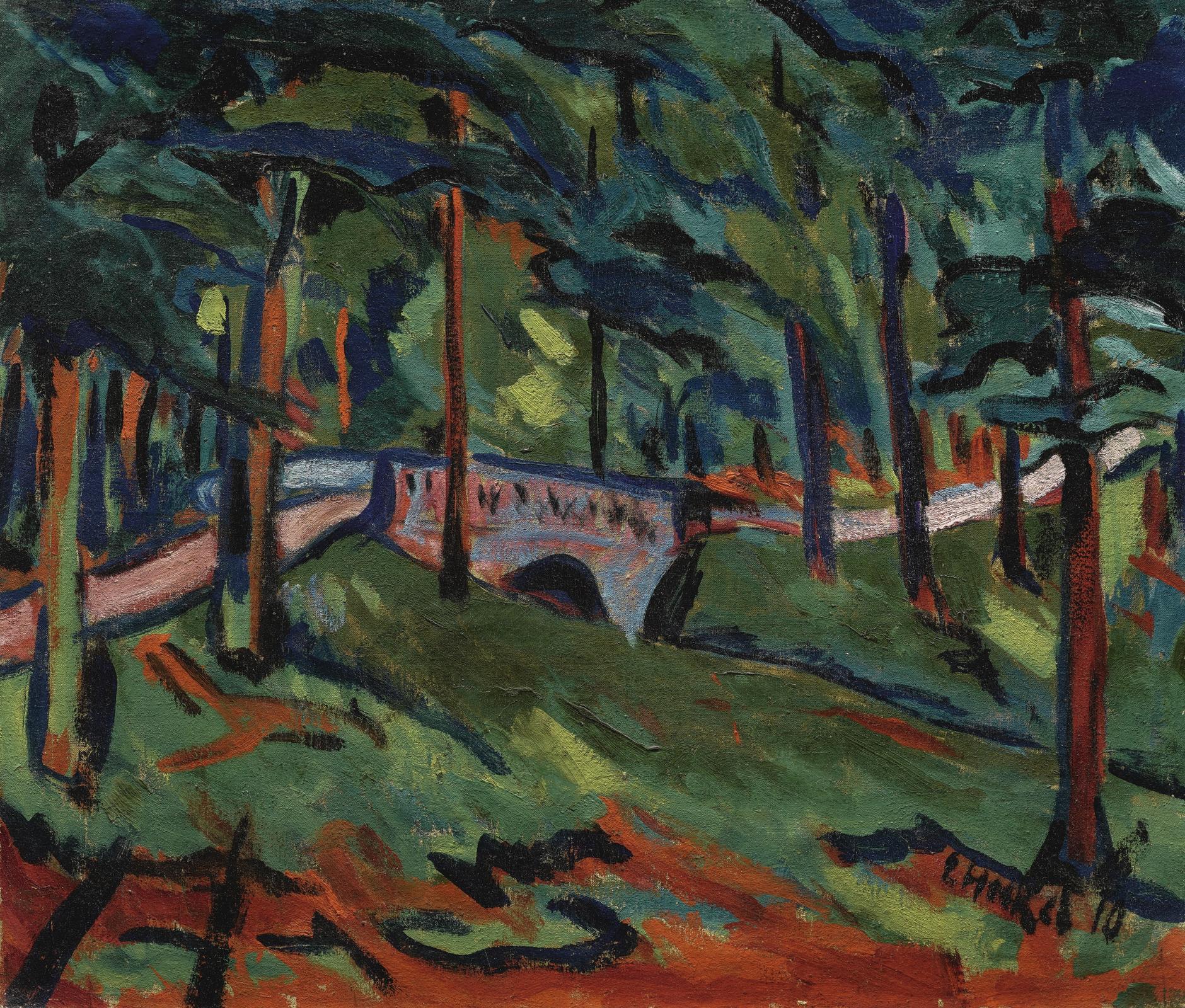 Erich Heckel-Parklandschaft (Park Landscape)-1910