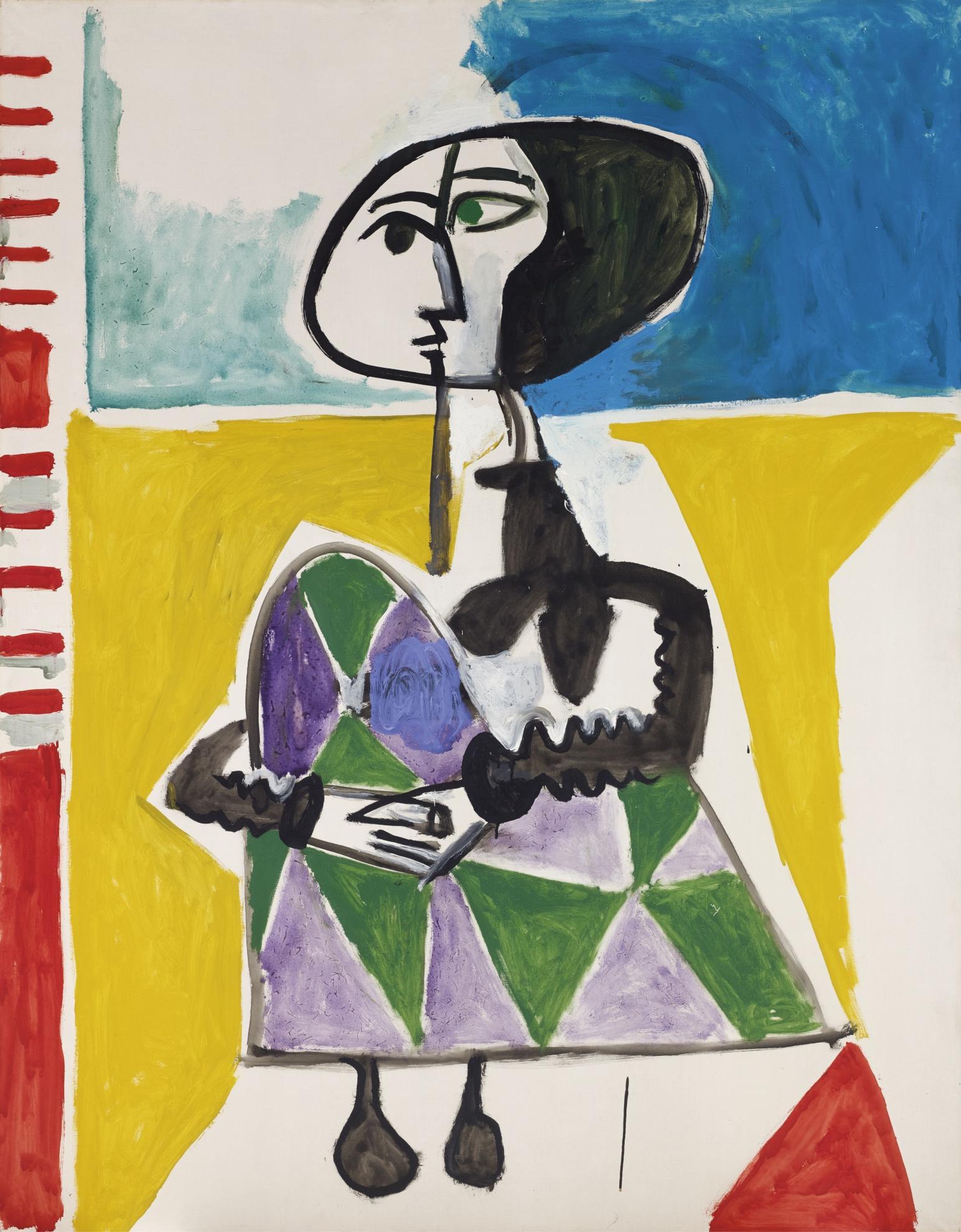Pablo Picasso-Femme Accroupie-1954