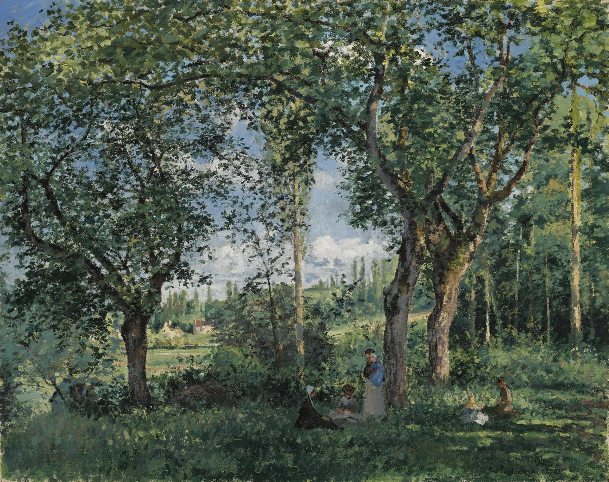 Camille Pissarro-Le Repos Sous Les Arbres-1872