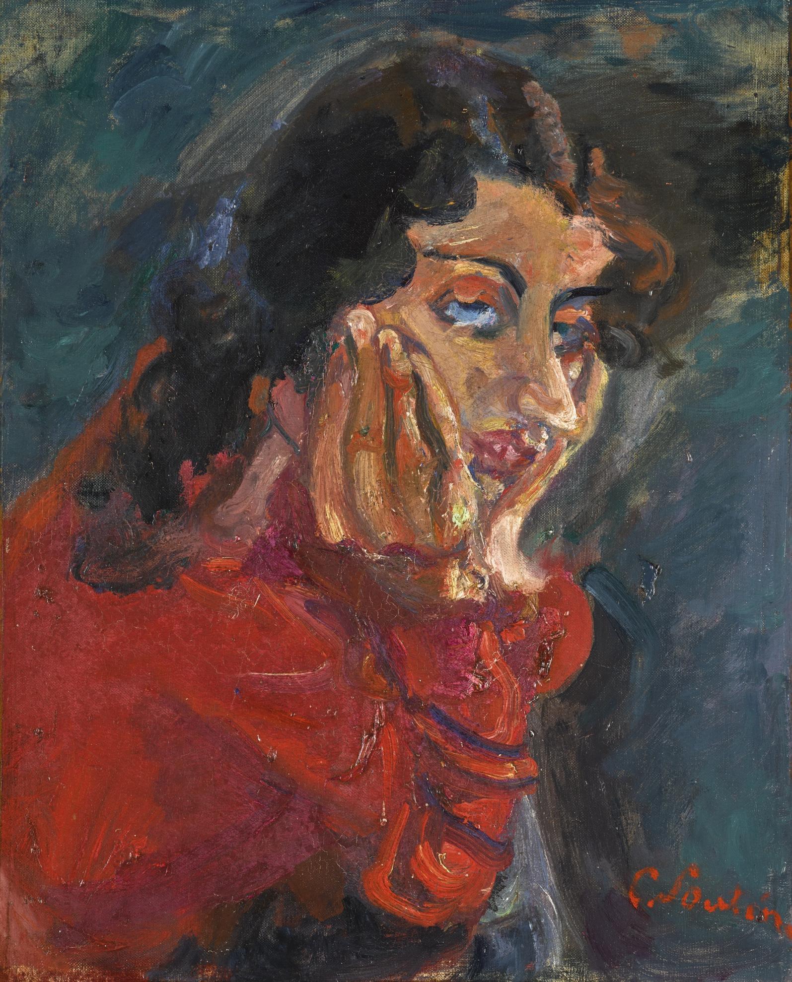 Chaim Soutine-La Femme Accoudee-1937