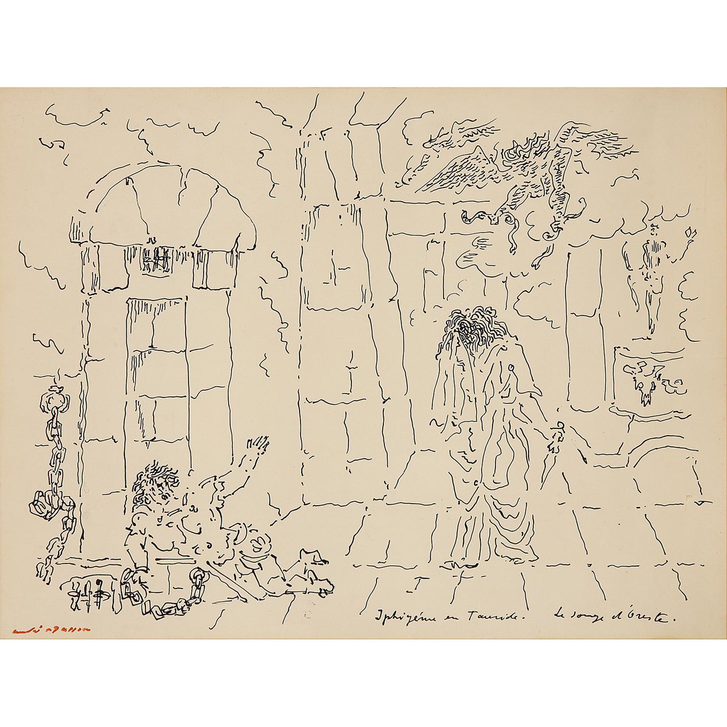 Andre Masson-Iphigenie En Tauride (Le Songe Doreste)-1952