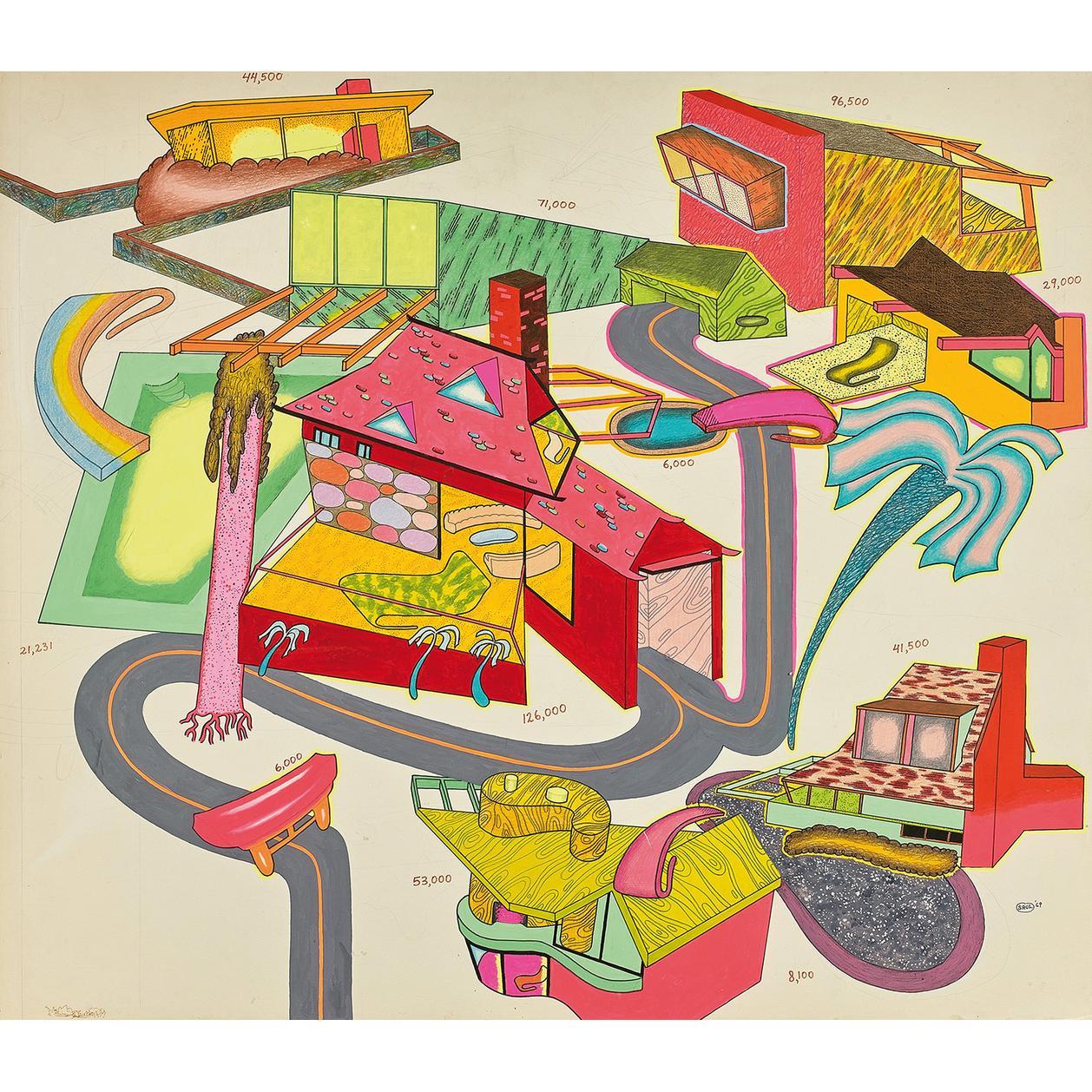 Peter Saul-Suburban Houses #1-1969