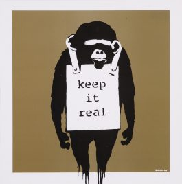 Banksy-Disque vinyle Keep it real - Gold edition-2008