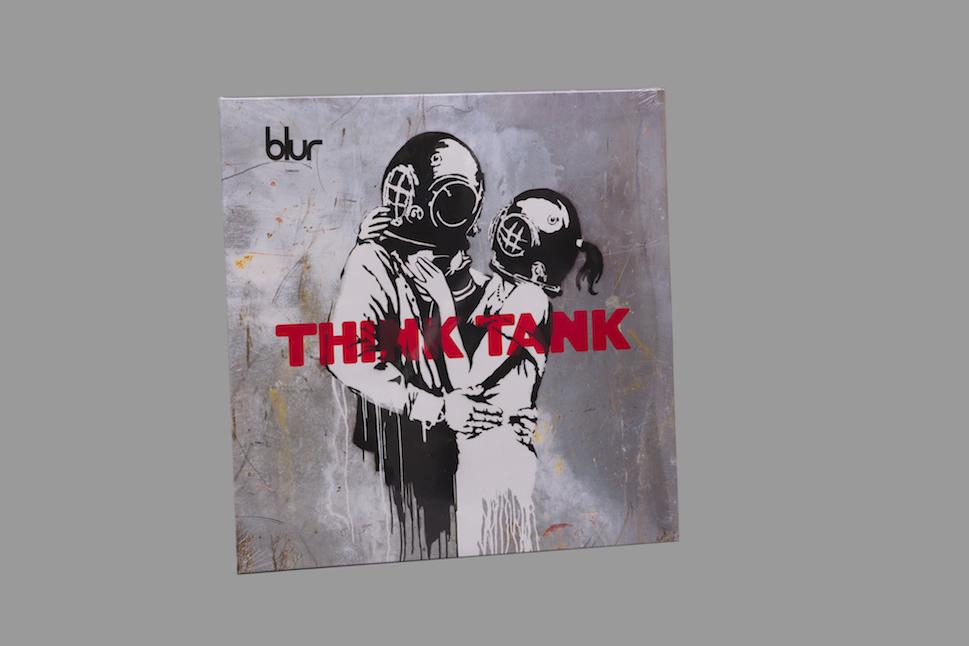 Banksy-Disque vinyle Blur : Think tank-
