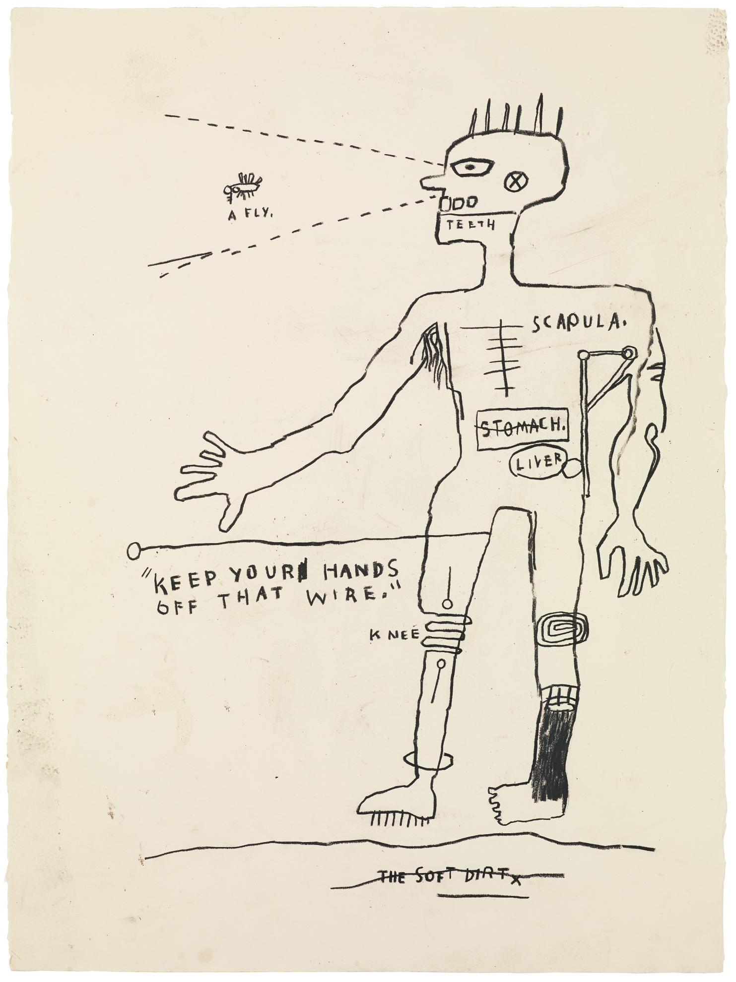 Jean-Michel Basquiat-Wire-1983
