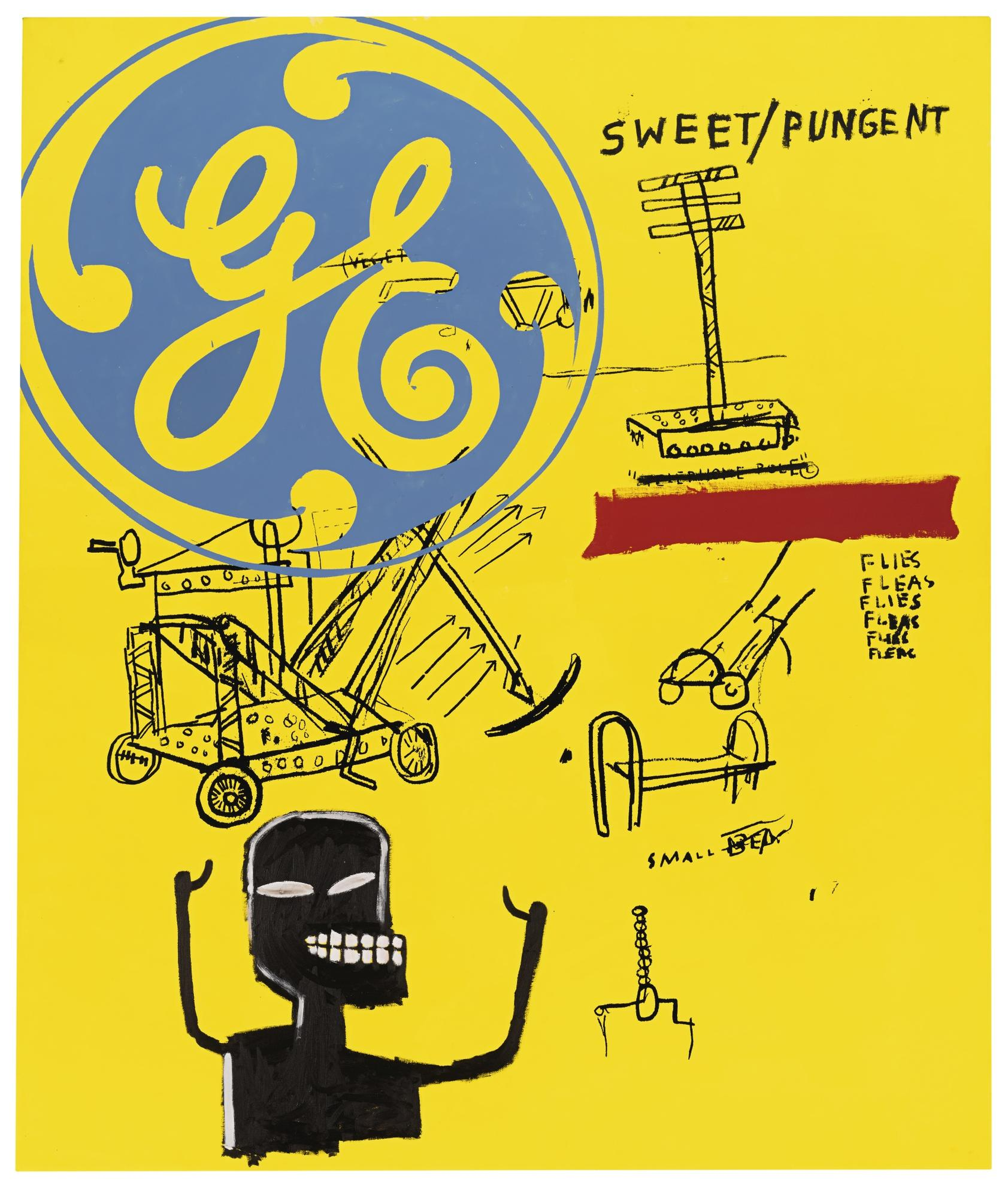 Andy Warhol And Jean-Michel Basquiat - Sweet Pungent-1985