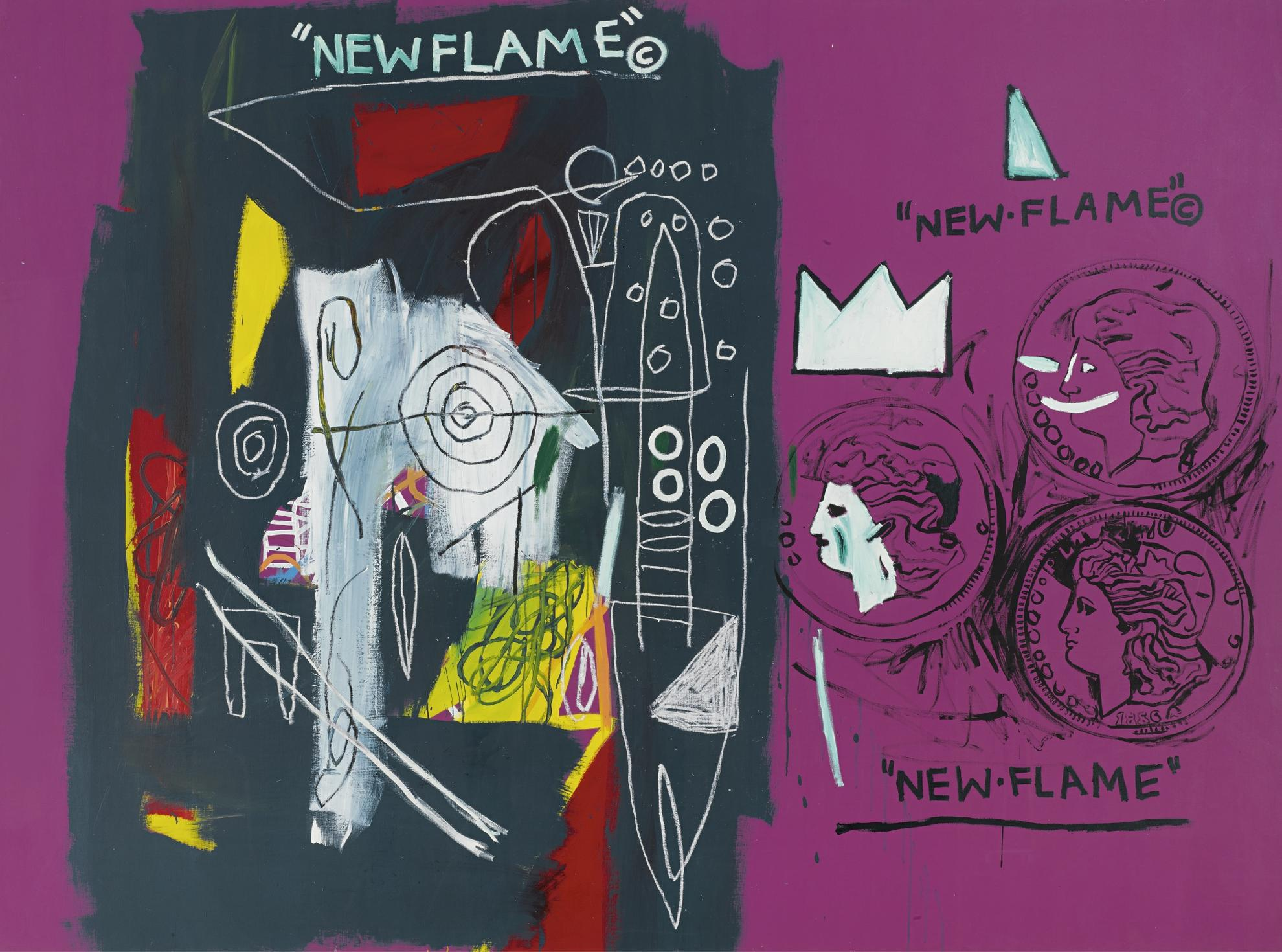 Andy Warhol And Jean-Michel Basquiat - New Flame-1985
