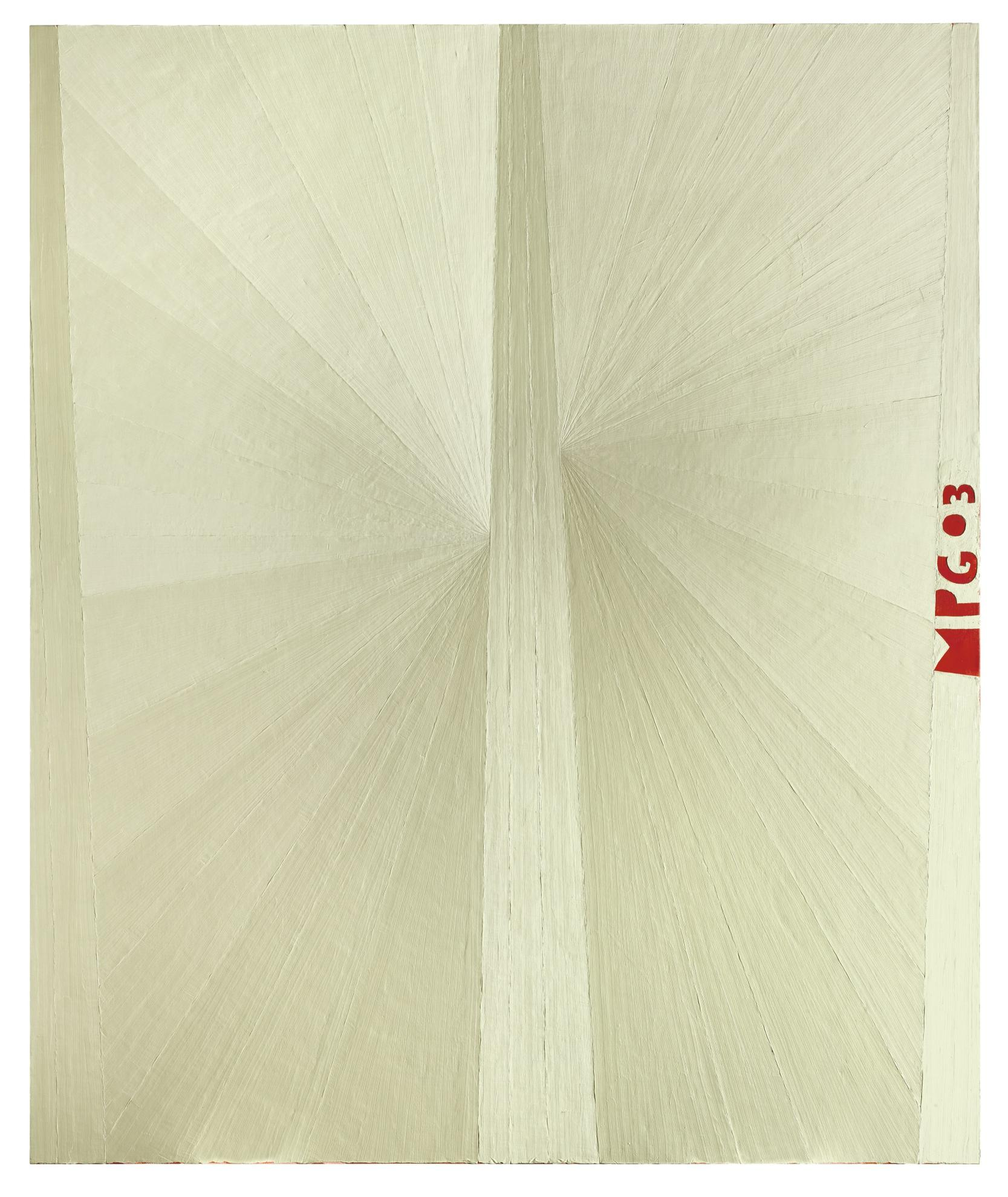 Mark Grotjahn-Untitled (White Butterfly Mpg 03)-2003