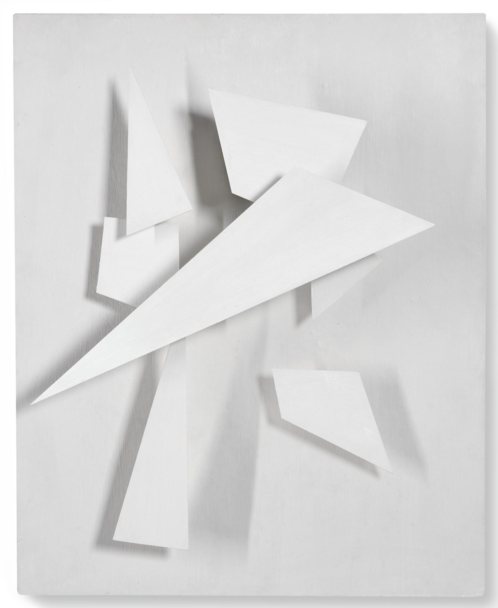 Jean Tinguely-Blanc - Blanc + Ombre-1955