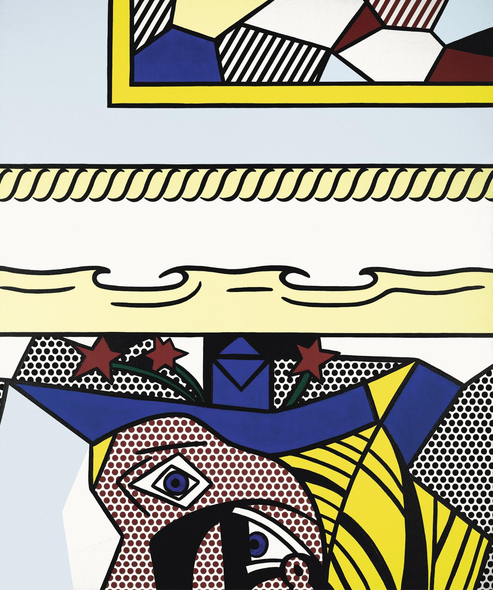 Roy Lichtenstein-Two Paintings With Dado-1983