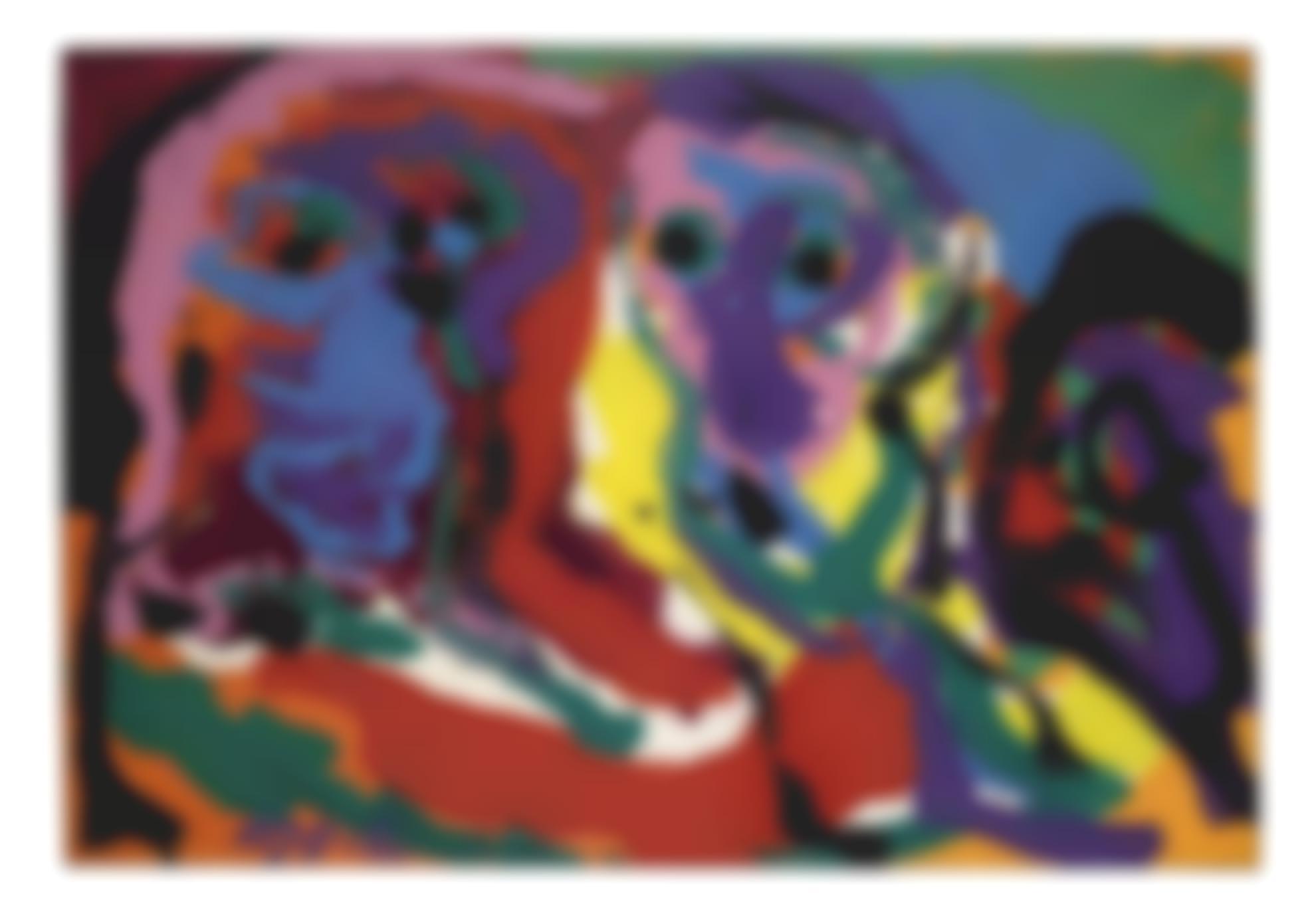 Karel Appel-Three Faces-1970