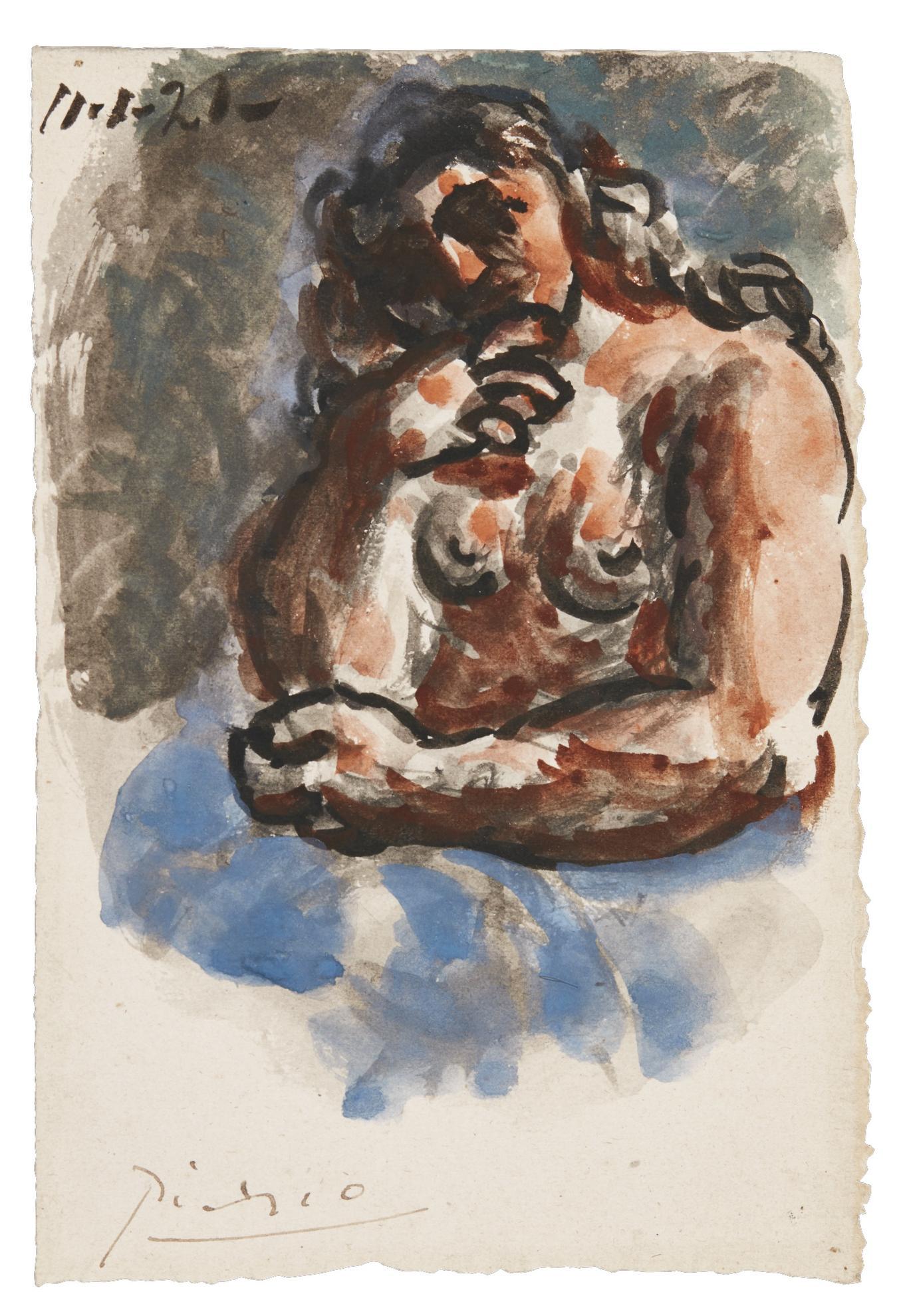 Pablo Picasso-Buste De Femme Nue-1921