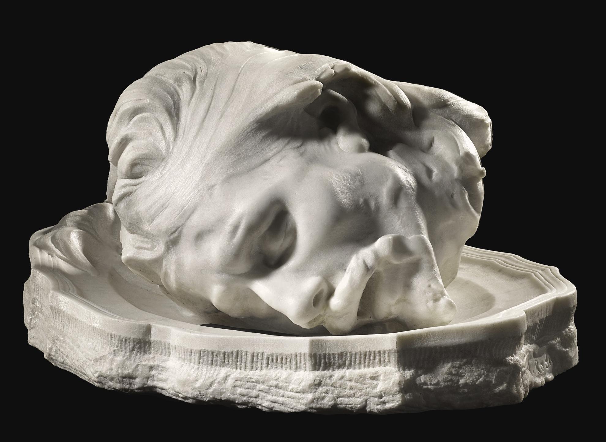 Auguste Rodin-Tete De Saint-Jean Baptiste Dans Un Plat, Version De Profil-1892
