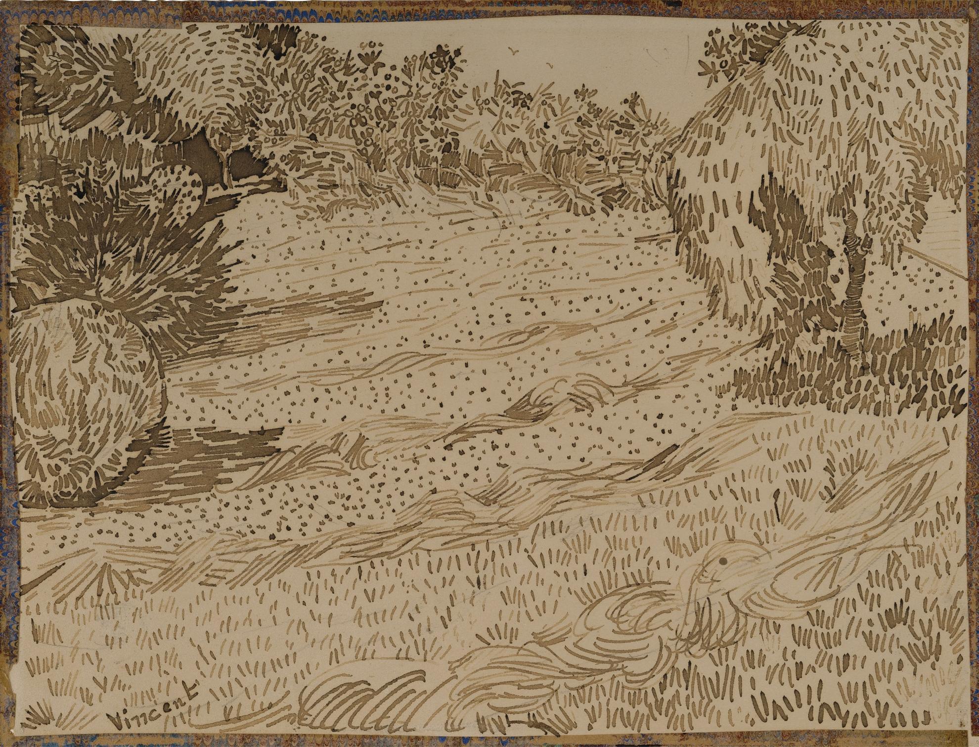 Vincent van Gogh-Un Coin De Jardin A Arles-1888