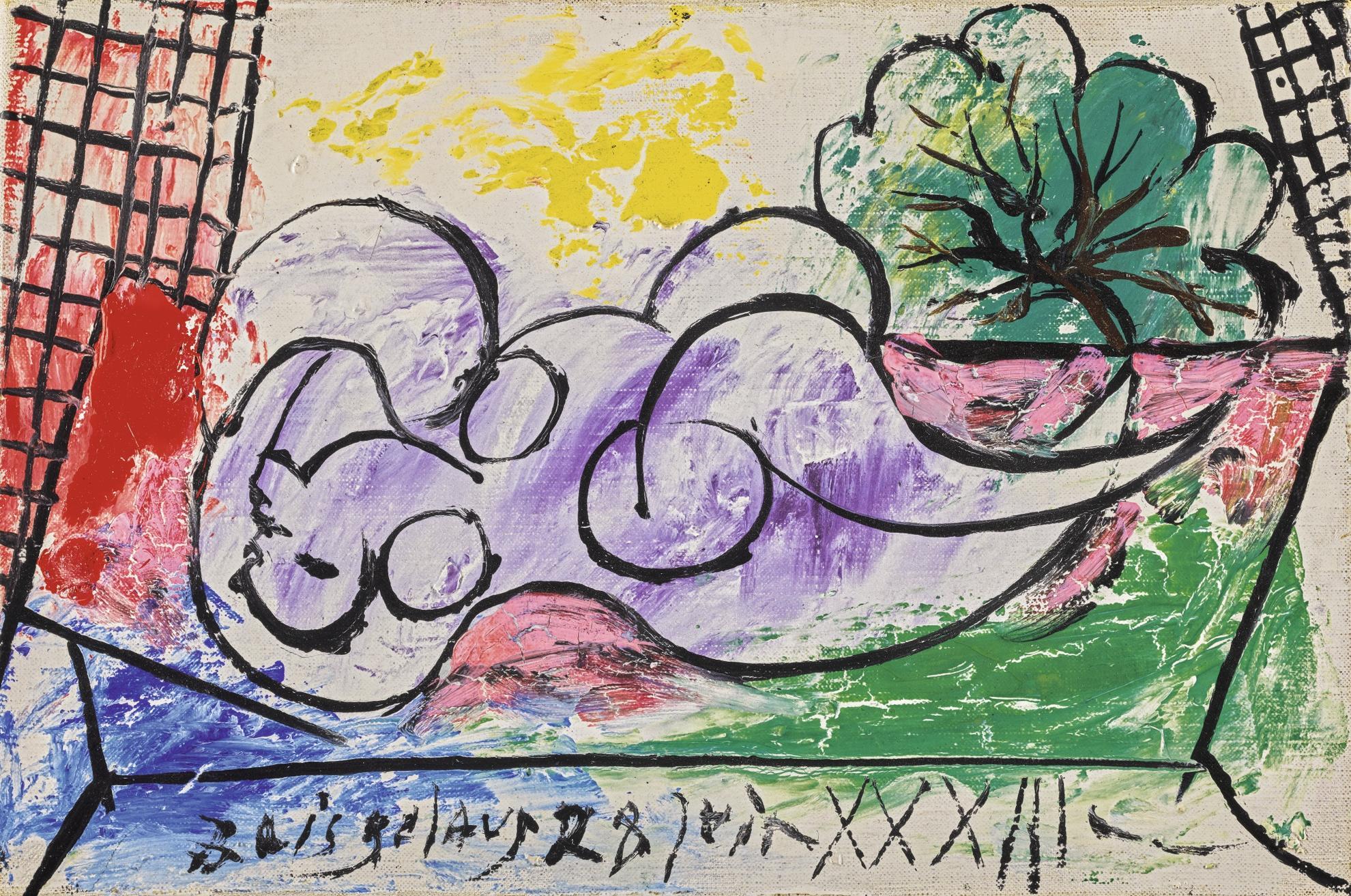 Pablo Picasso-Femme Endormie-1933