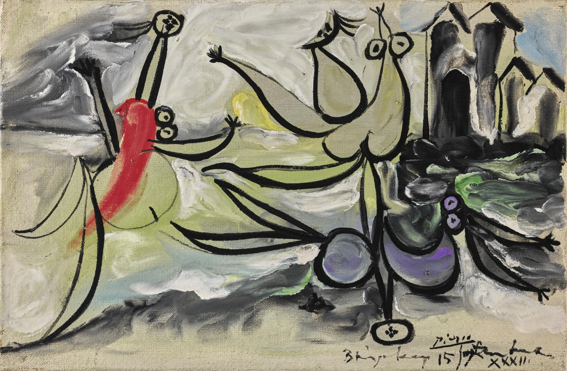 Pablo Picasso-Les Trois Baigneuses-1932
