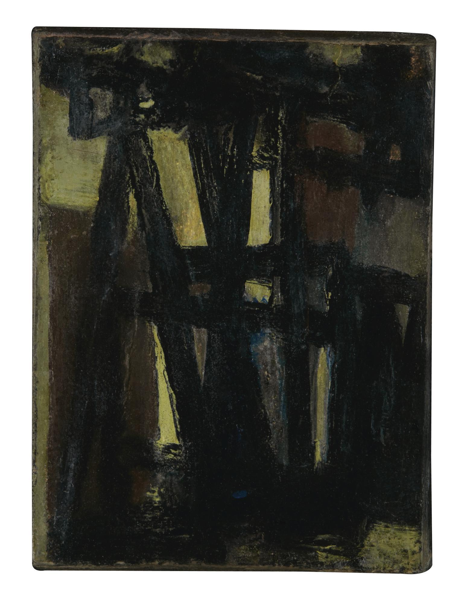 Pierre Soulages-Peinture 10,6 X 8 Cm, 1949-1949