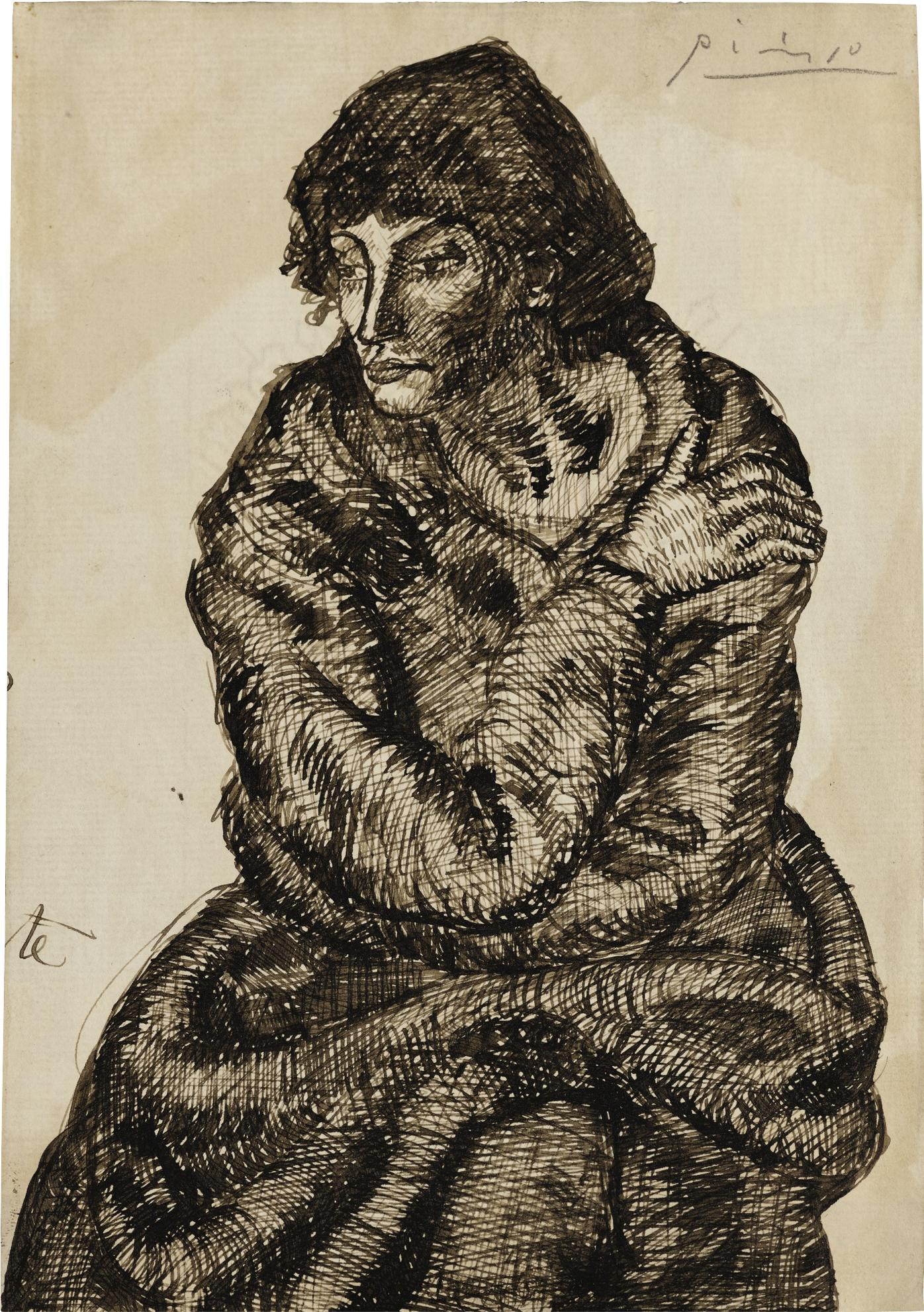 Pablo Picasso-Femme Assise-1902