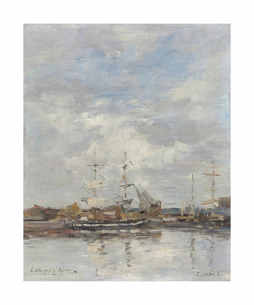 Eugene Louis Boudin-Deauville, Le Bassin-1891