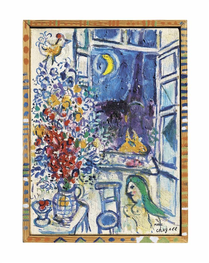 Marc Chagall-Fenetre Ouverte Sur Paris-1963