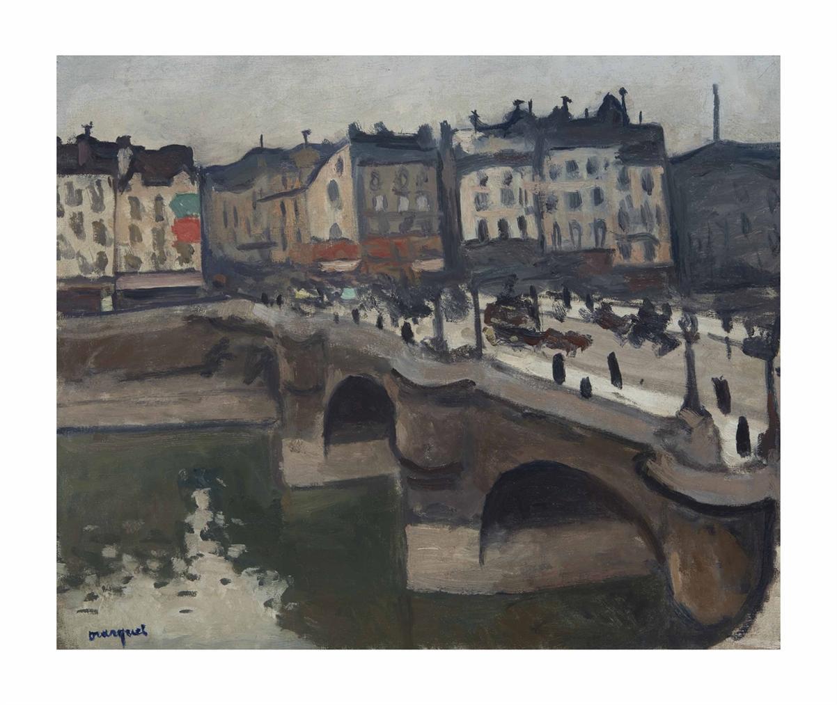 Albert Marquet-Le Pont-Neuf, Temps Gris, Paris-1906