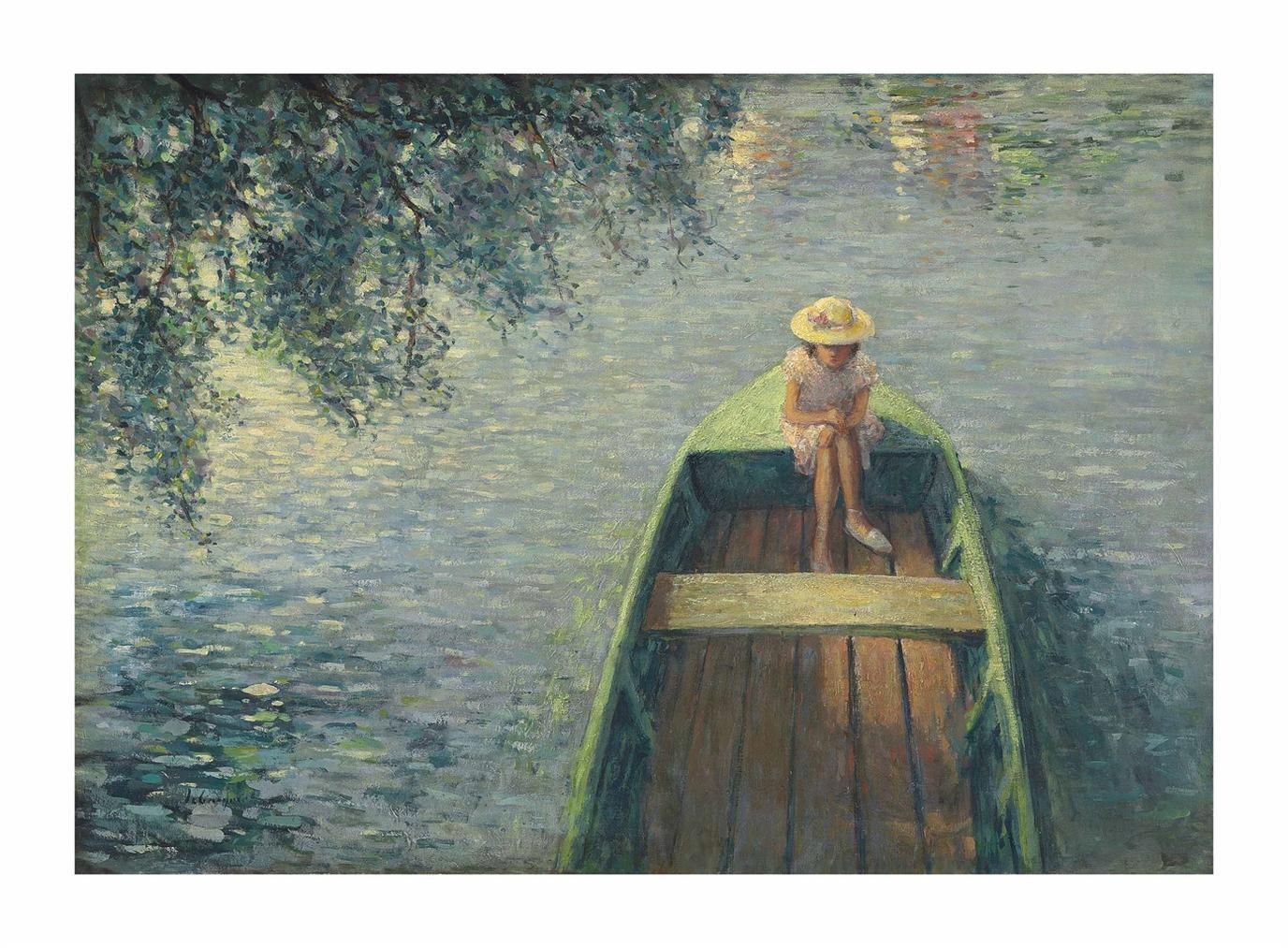 Henri Lebasque-En Barque Sur La Marne-1906